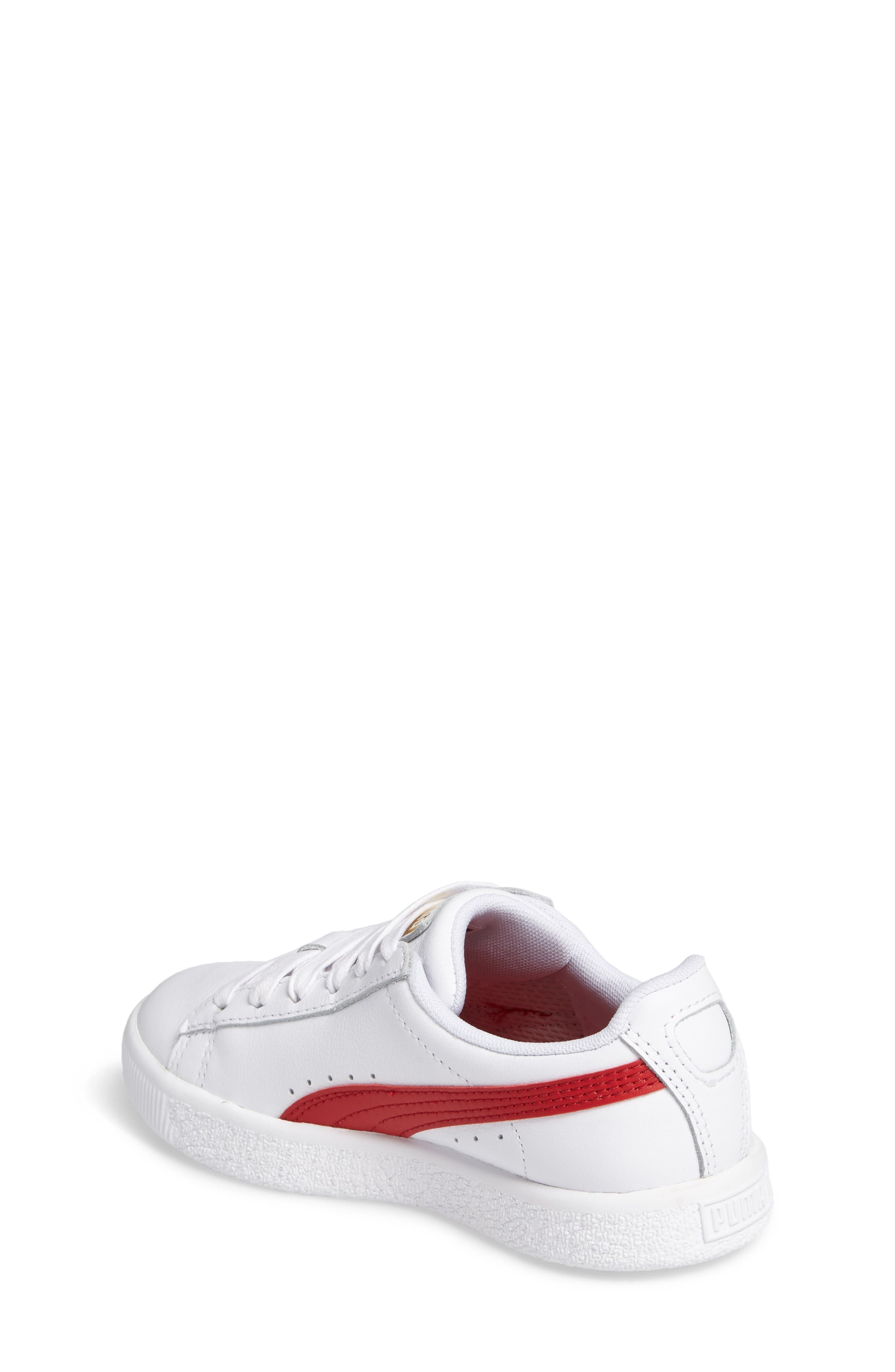 Clyde Core Foil Sneaker,                             Alternate thumbnail 2, color,                             White/ Cherry