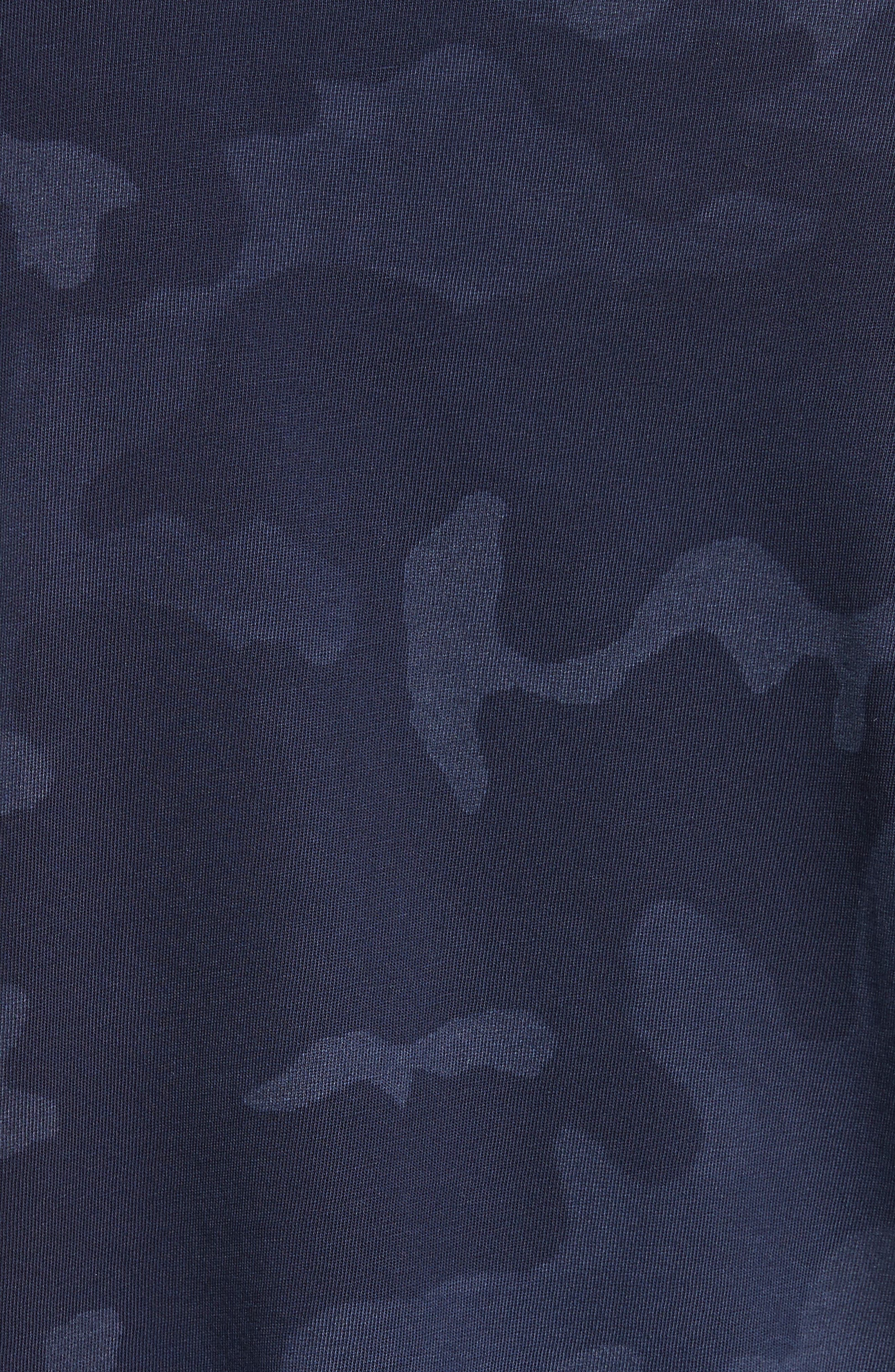 Camouflage Print Cotton Tee,                             Alternate thumbnail 5, color,                             Blue Camo