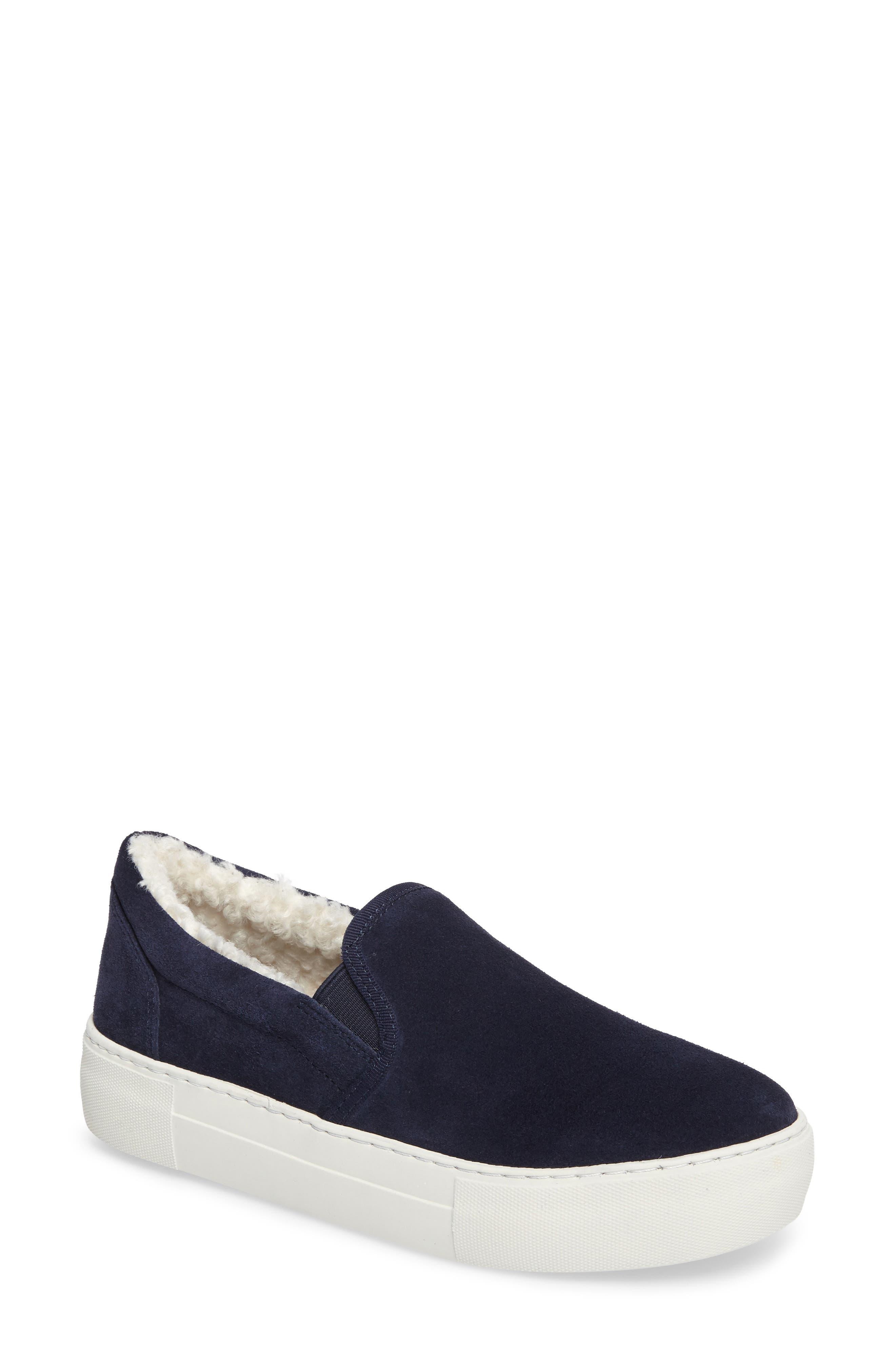JSlides Arpel Faux Fur Lined Slip-On Sneaker (Women)