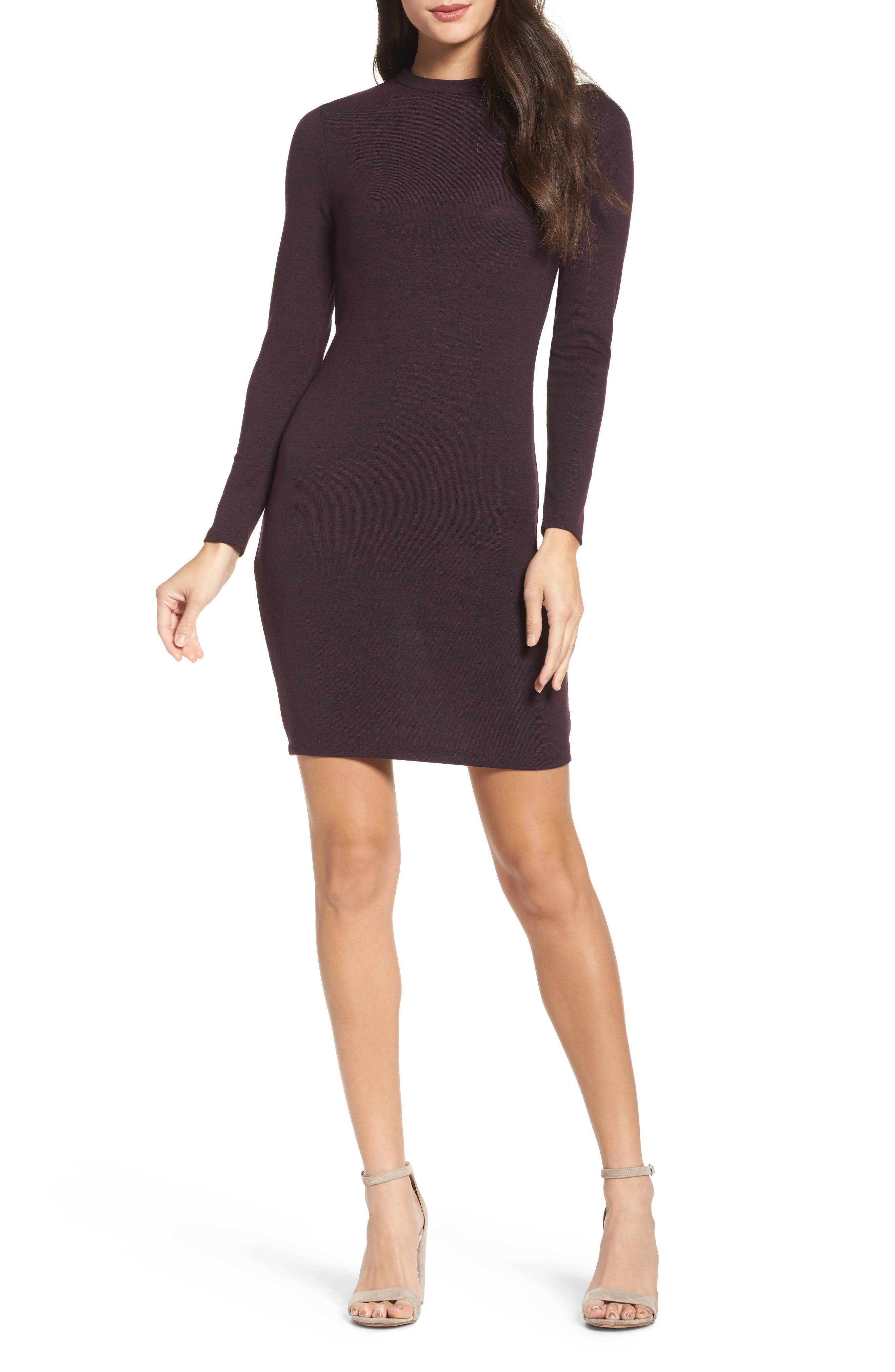Sweeter Sweater Dress,                             Main thumbnail 1, color,                             Deepest Purple