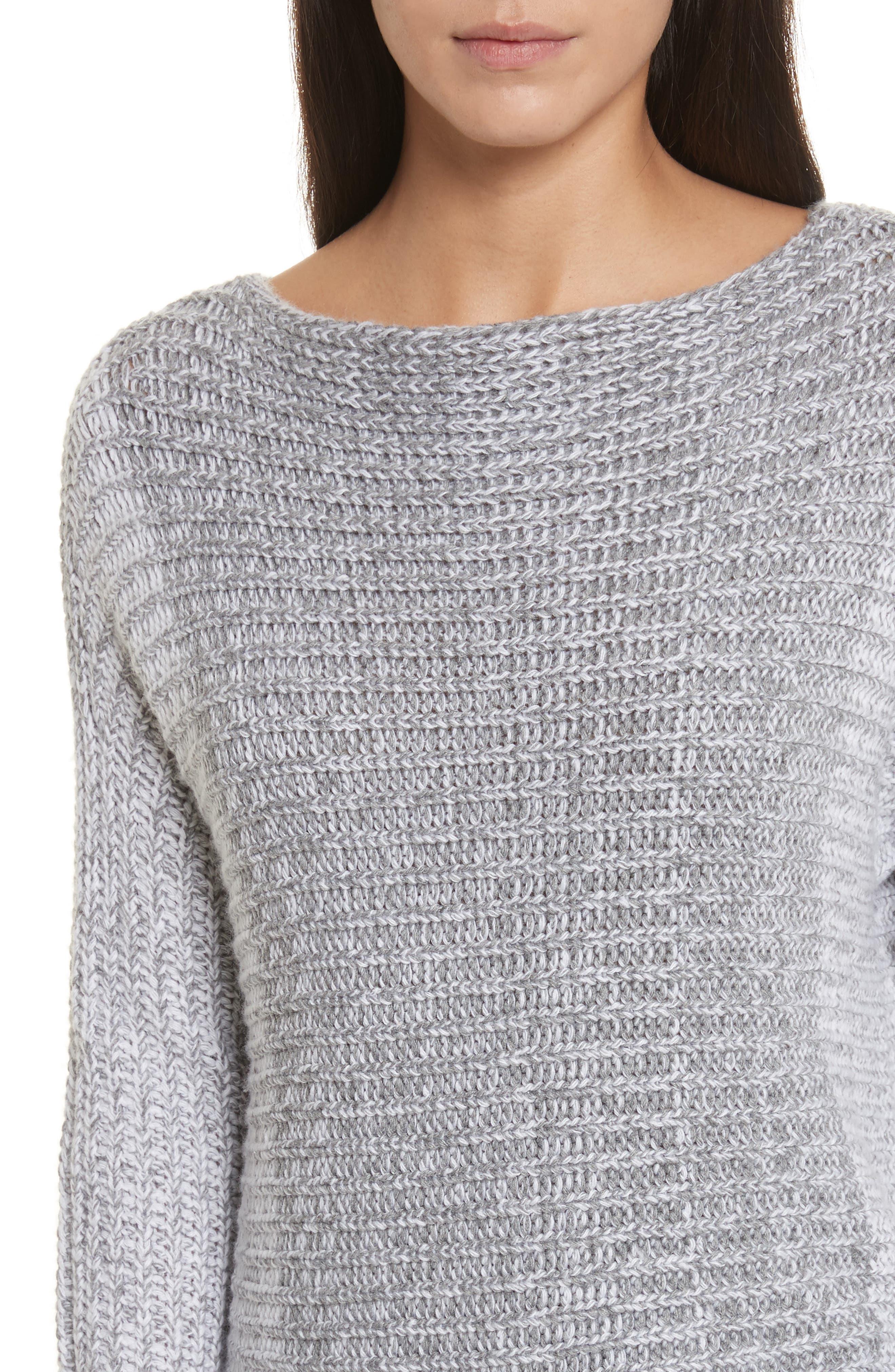 Colorblock Sweater,                             Alternate thumbnail 4, color,                             Grey
