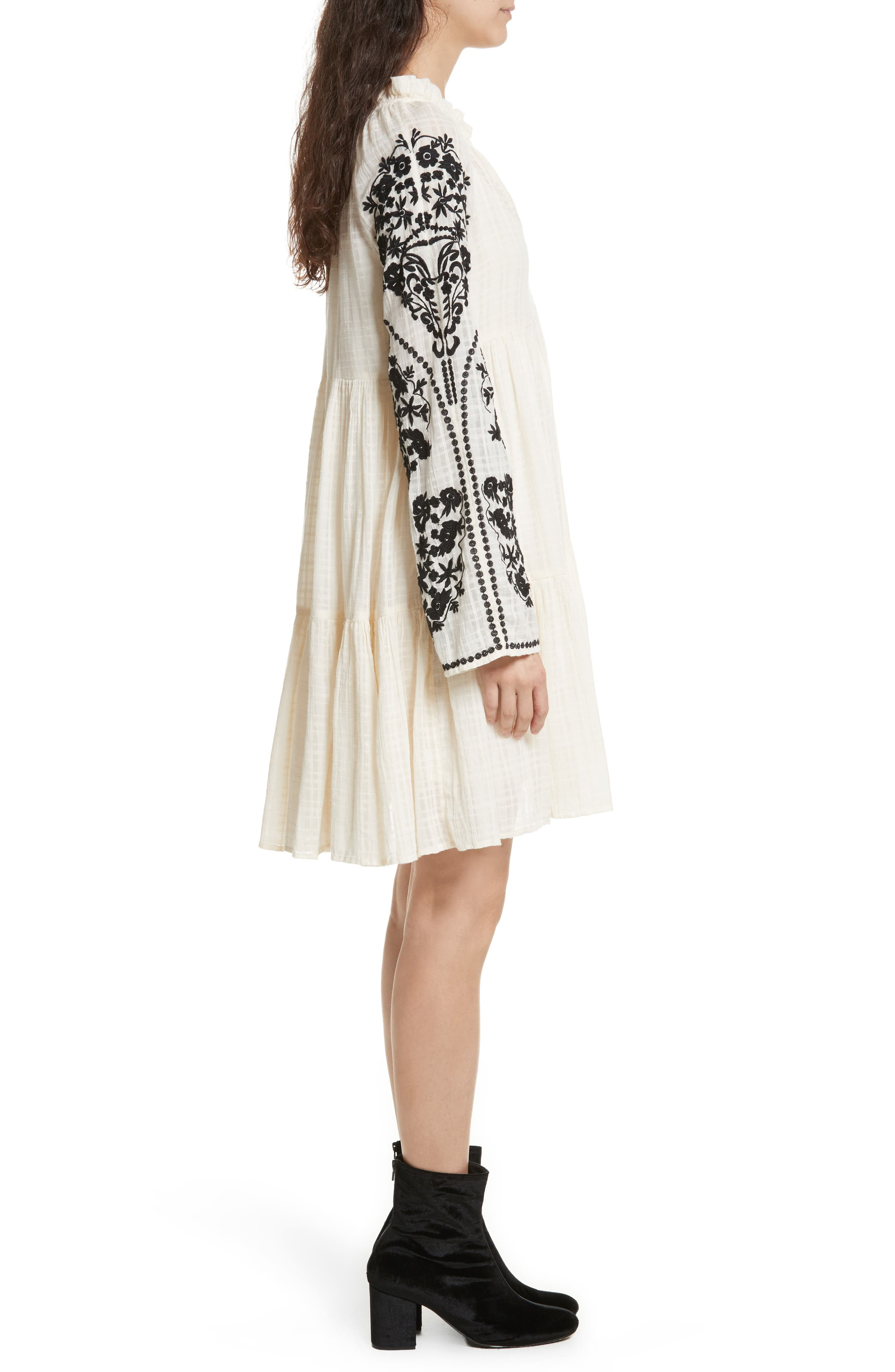 Emerald City Shift Dress,                             Alternate thumbnail 3, color,                             Ivory