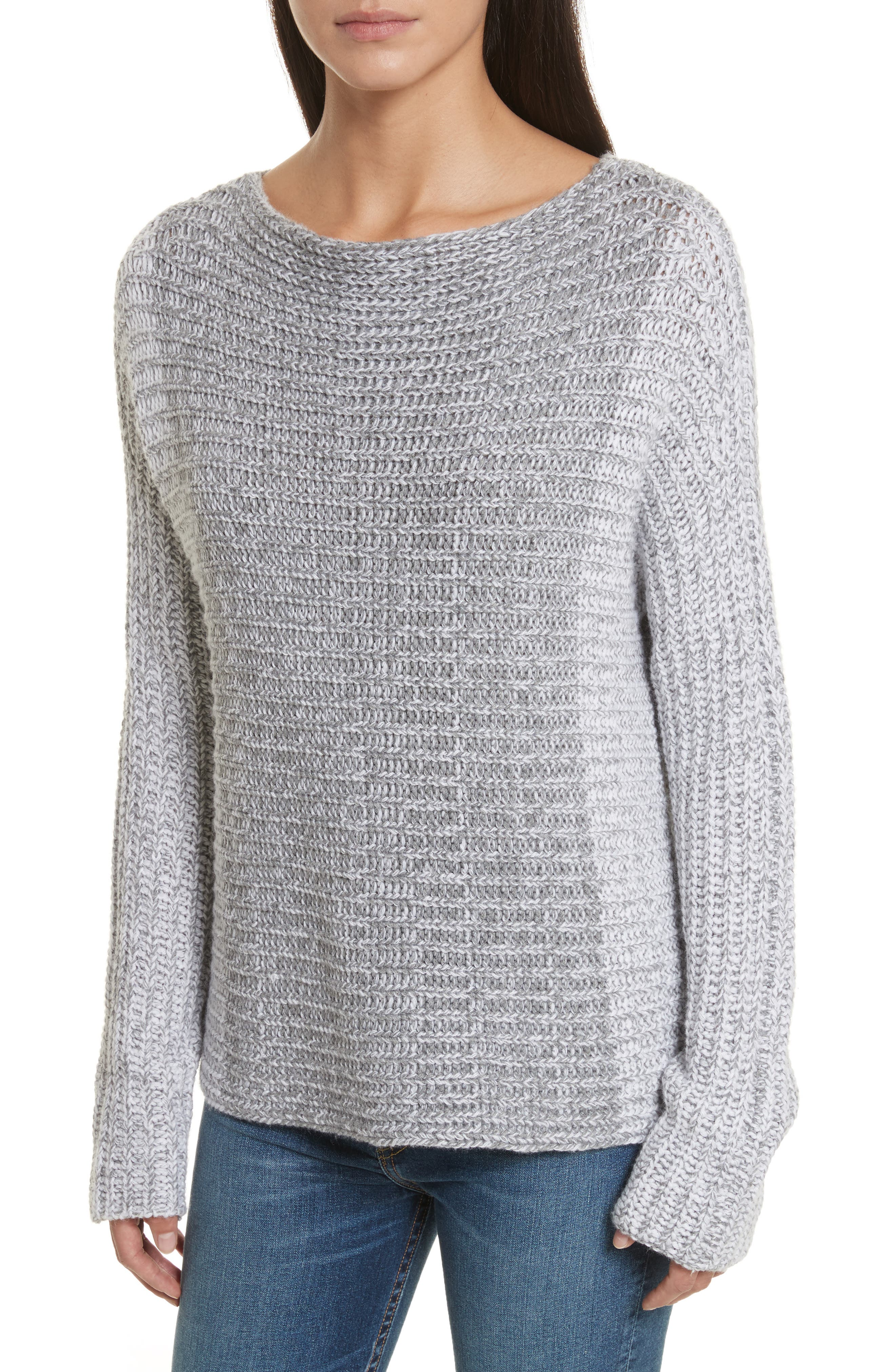 Colorblock Sweater,                         Main,                         color, Grey