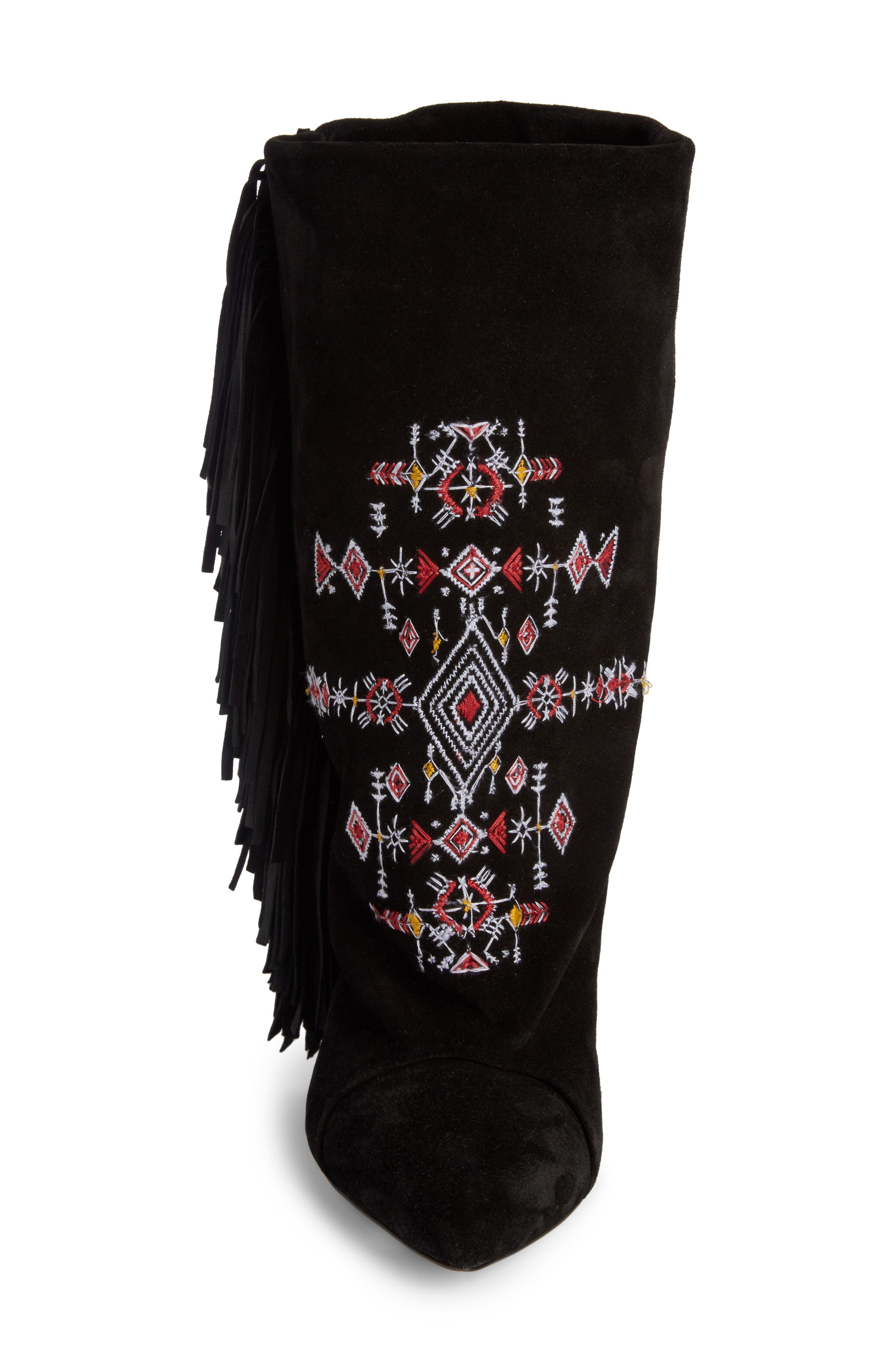 Alternate Image 3  - Isabel Marant Lesten Embroidered Fringe Boot (Women)
