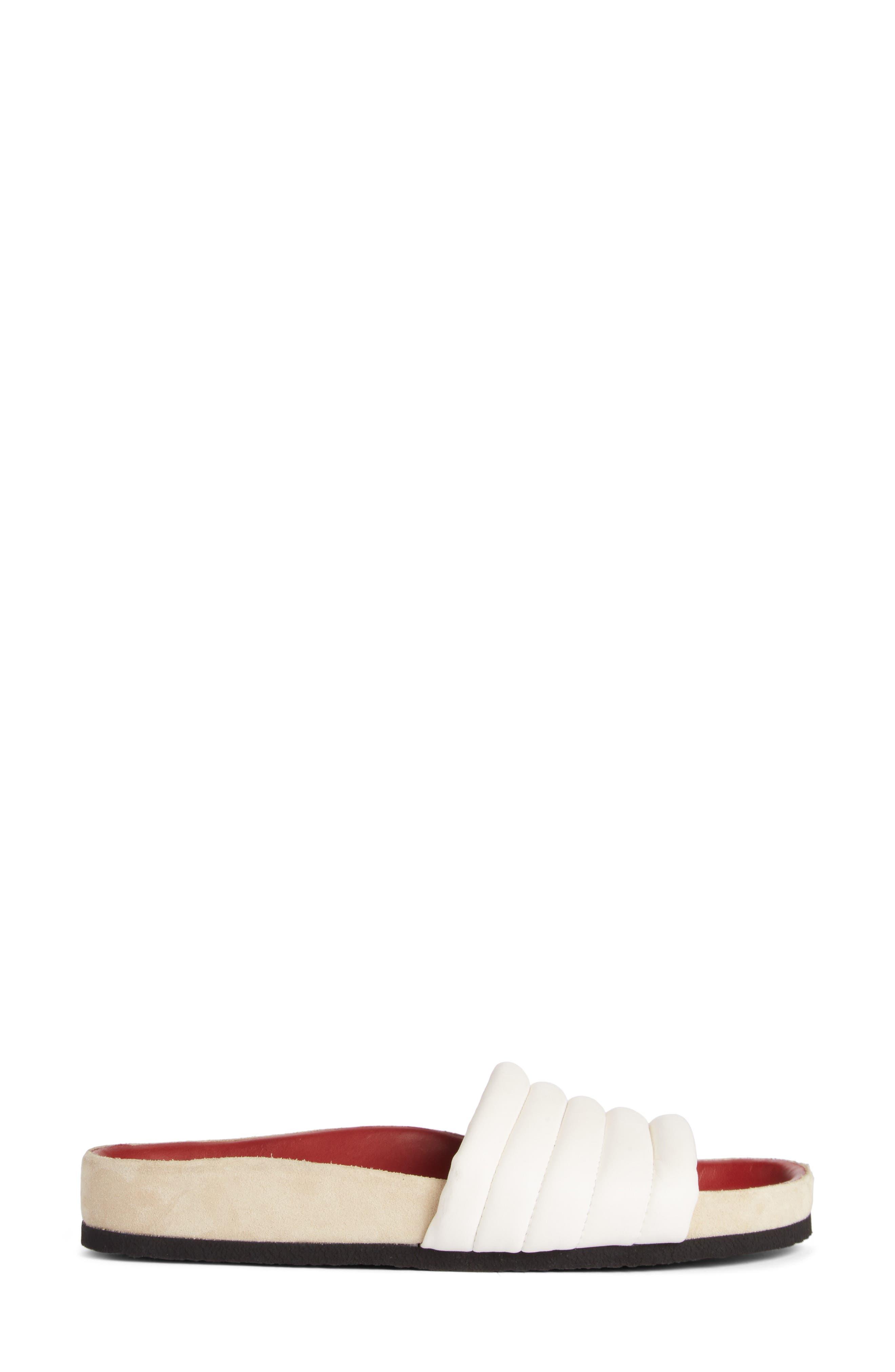 Hellea Slide Sandal,                             Alternate thumbnail 4, color,                             White