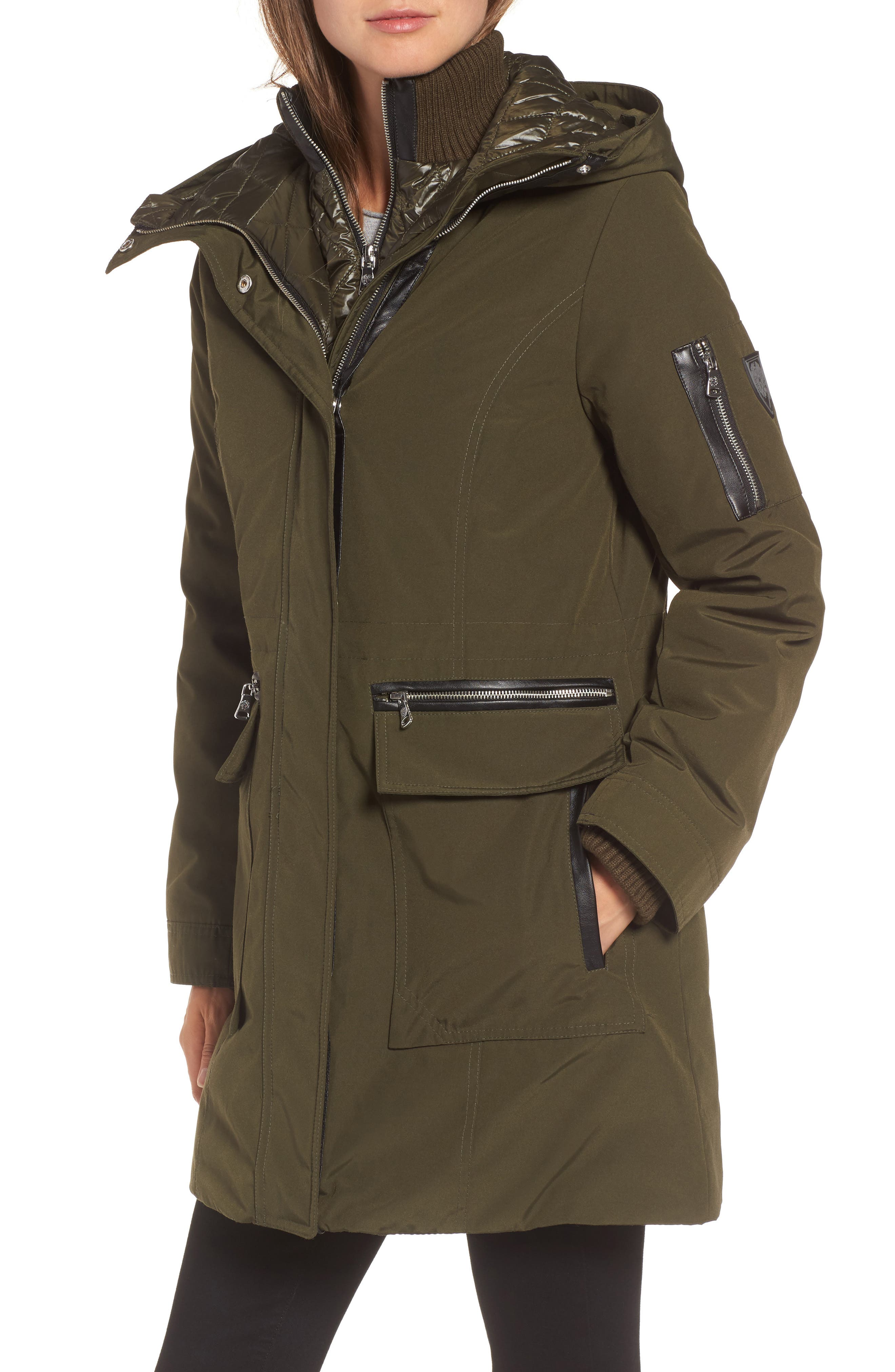 Alternate Image 4  - Vince Camuto Bib Insert Down & Feather Fill Coat