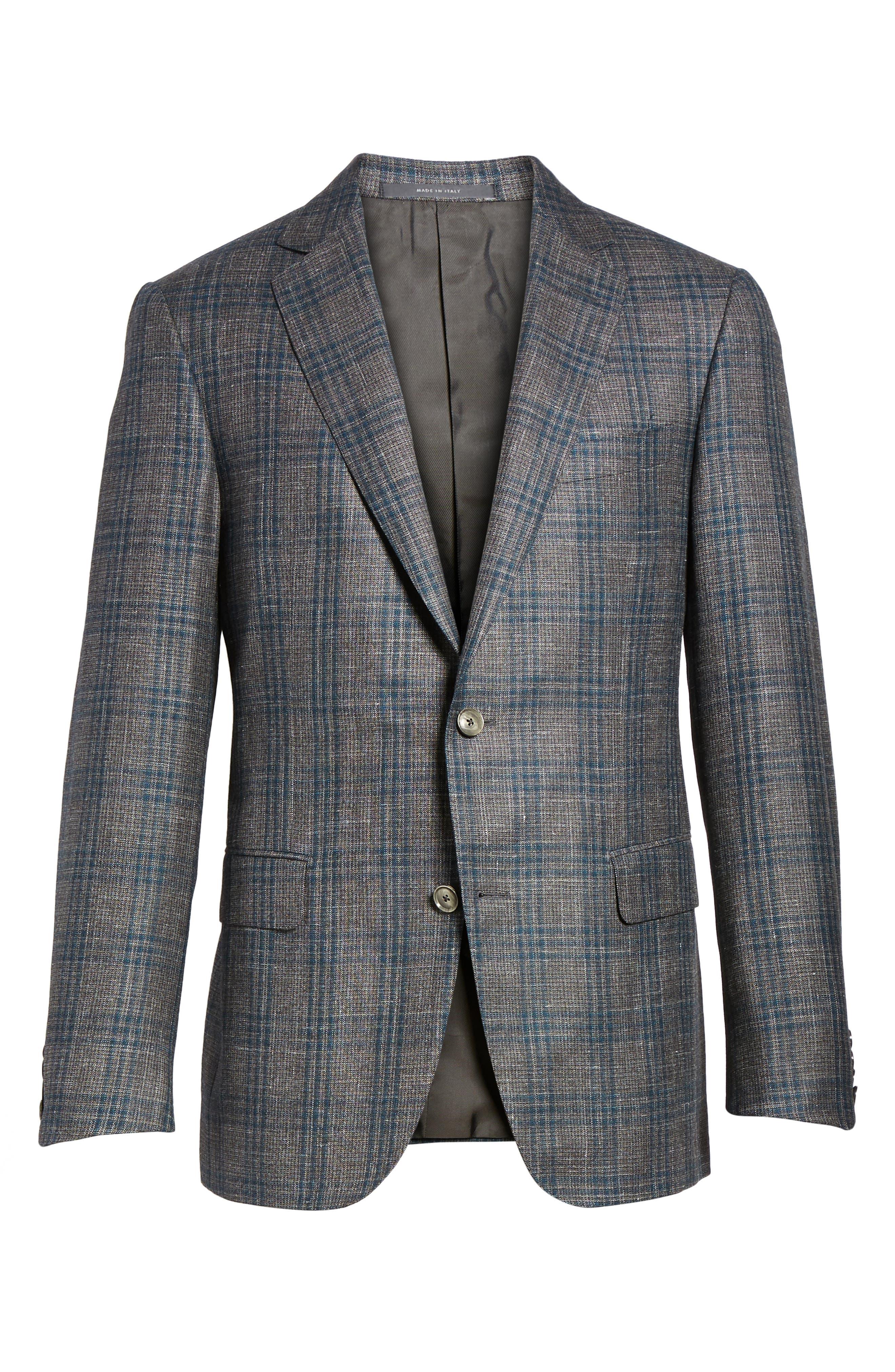 Alternate Image 6  - Pal Zileri Classic Fit Plaid Wool Sport Coat