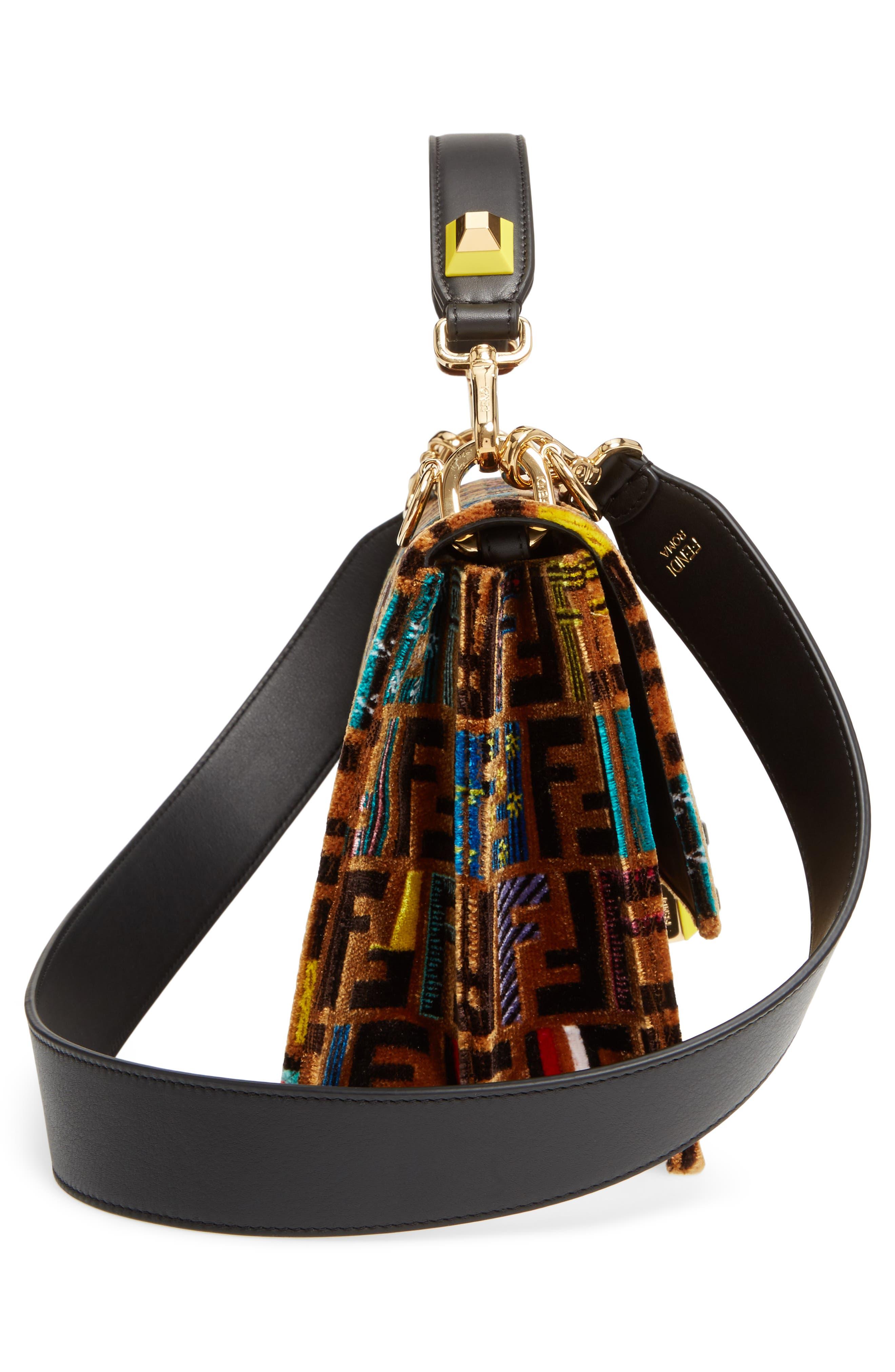 Alternate Image 5  - Fendi Kan I Tappetino Velvet Shoulder Bag