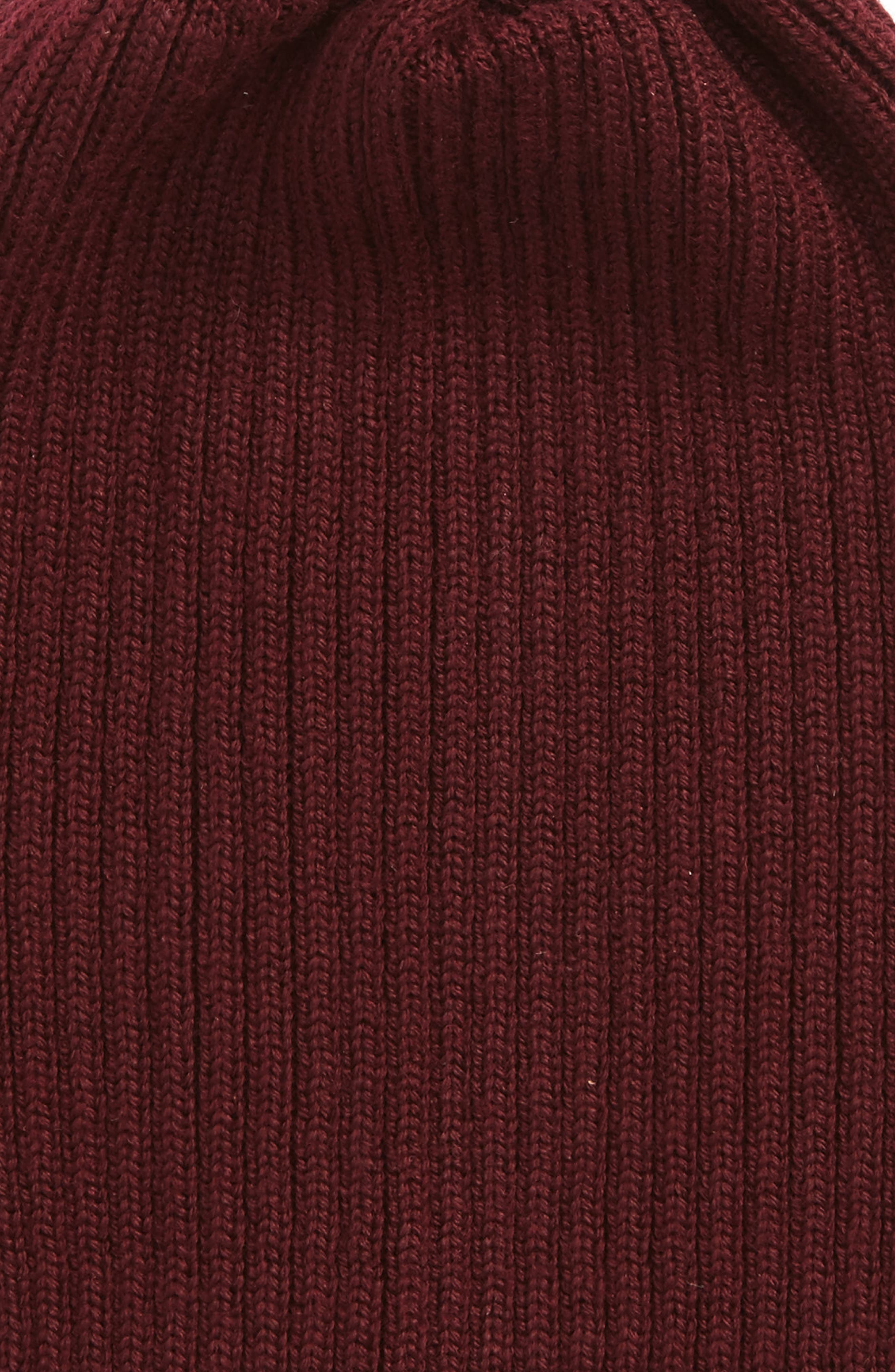 Alternate Image 2  - Lacoste Rib Knit Wool Beanie