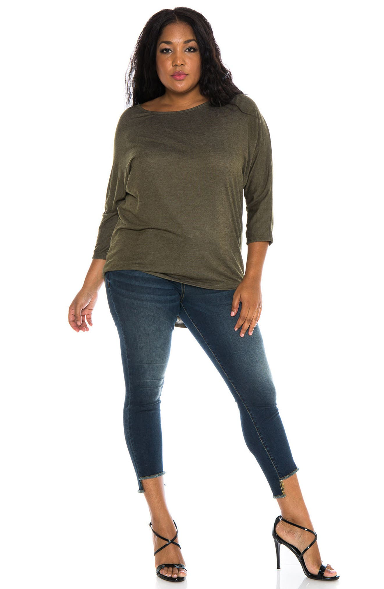 Alternate Image 2  - SLINK Jeans Dolman Sleeve Top (Plus Size)