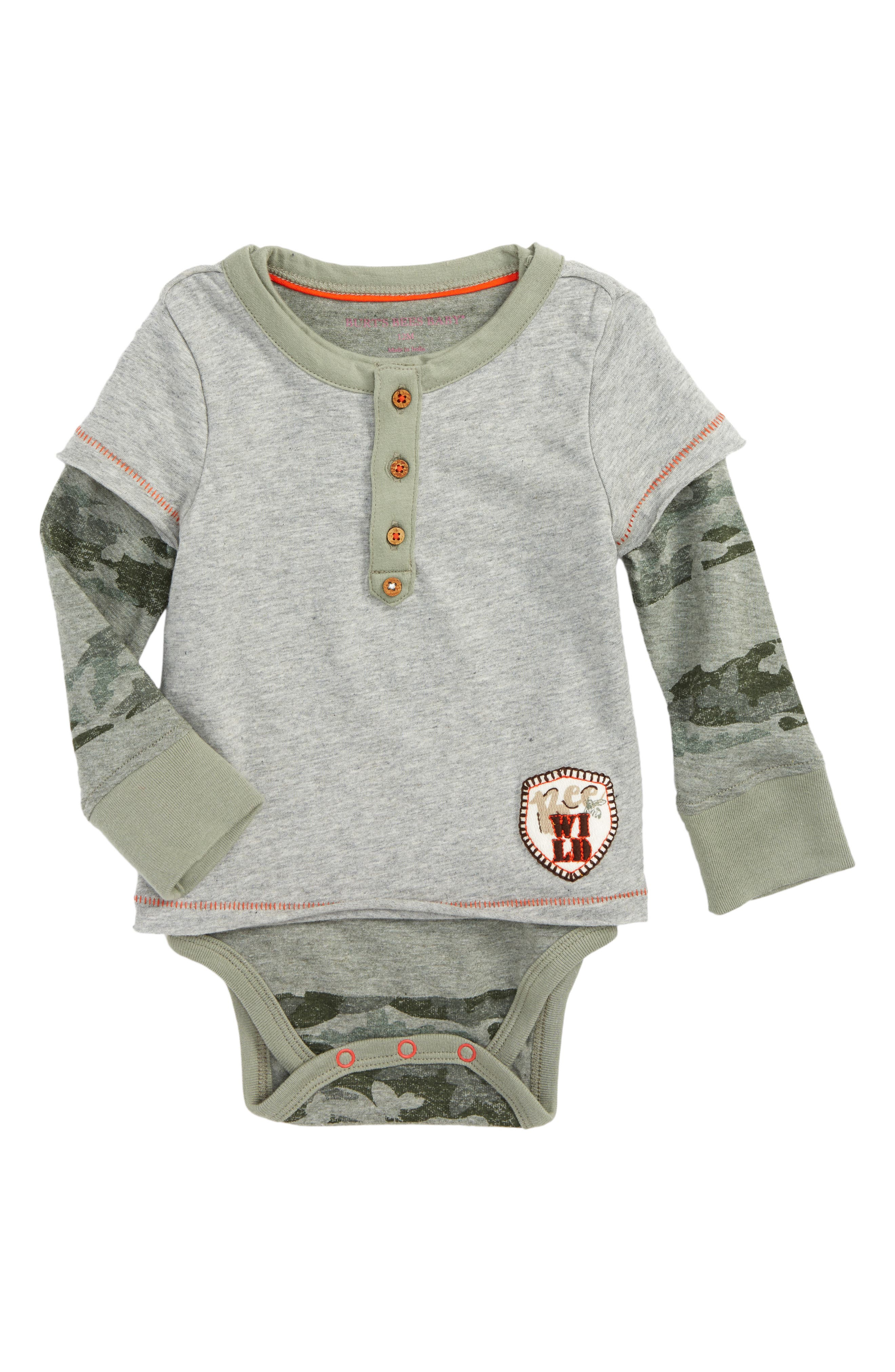 Burt's Bees Baby Camo Organic Cotton Bodysuit (Baby Boys)