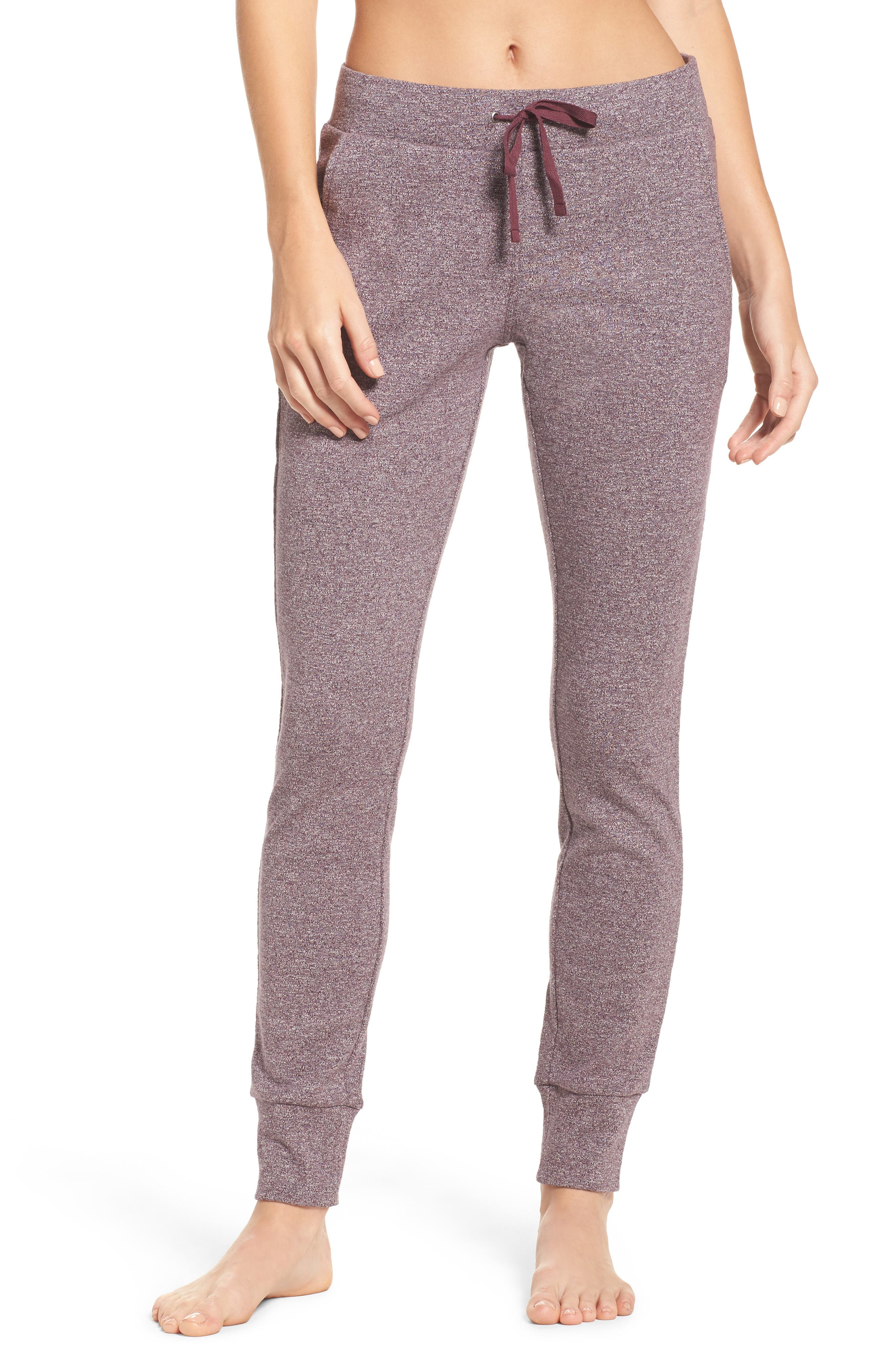 Clementine Cotton Sweatpants,                             Main thumbnail 1, color,                             Nightshade Heather
