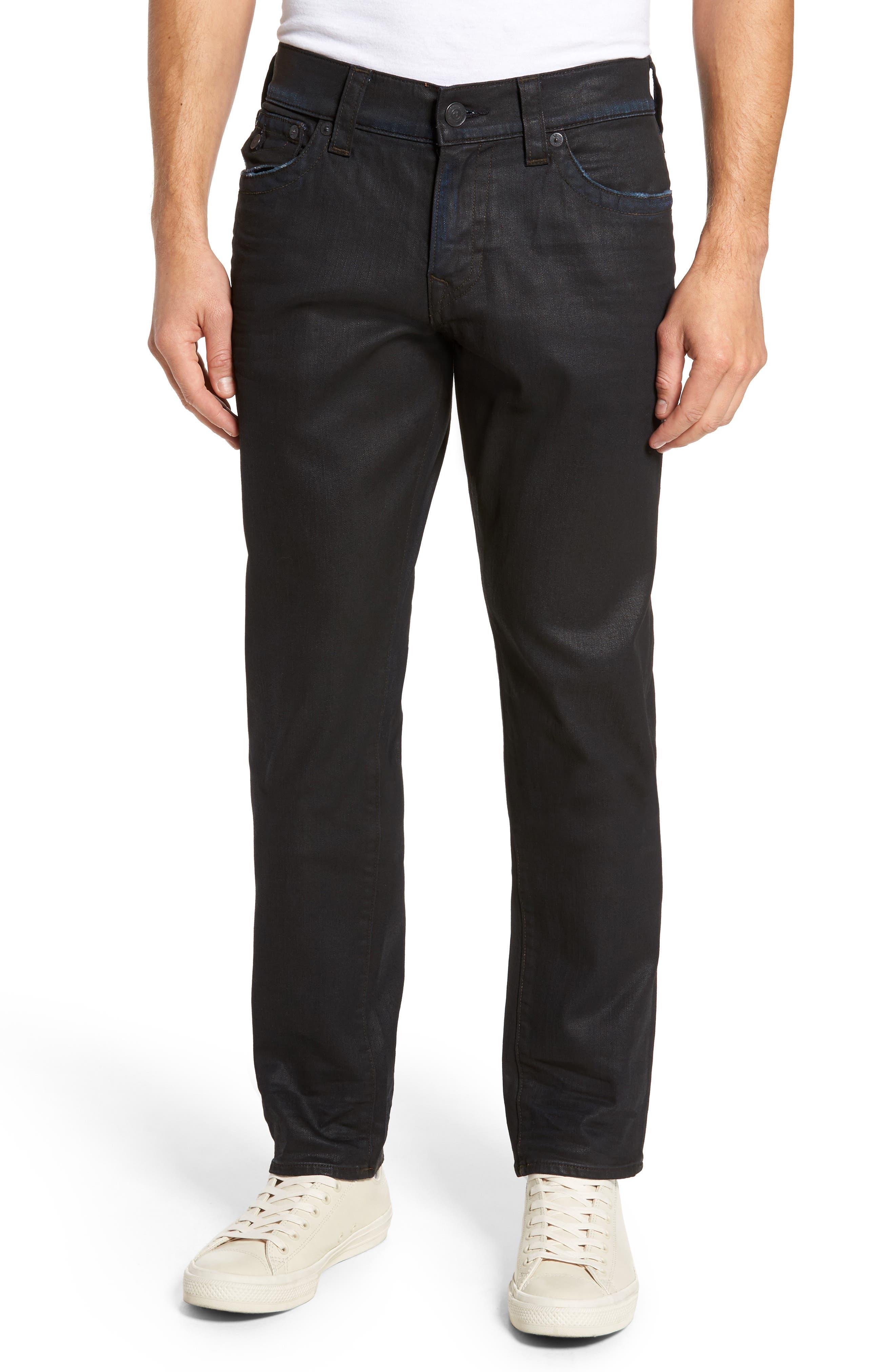 Main Image - True Religion Brand Jeans Geno Straight Leg Jeans (Dark Crater)