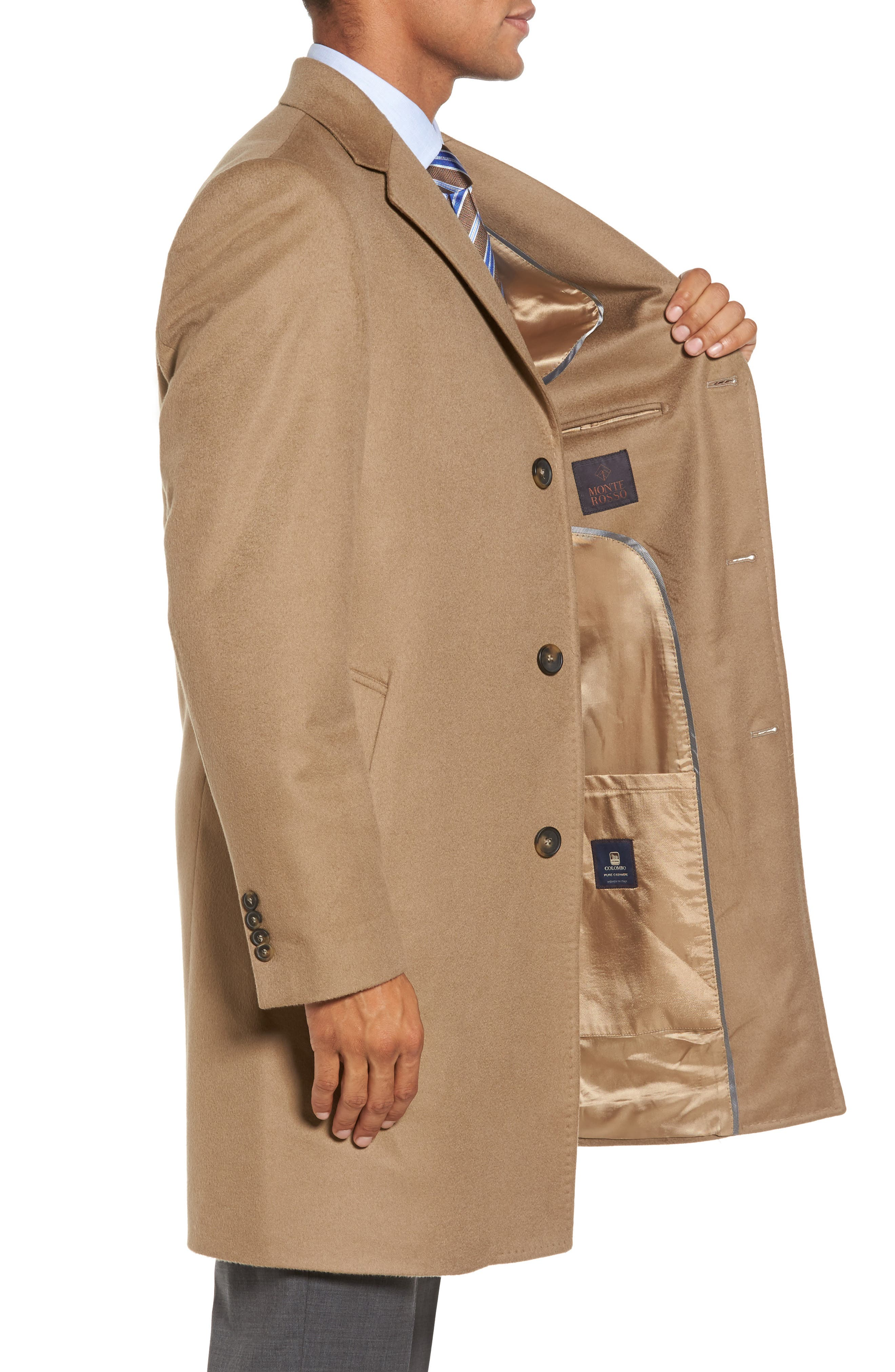 Alternate Image 3  - Monte Rosso Carter Classic Fit Cashmere Overcoat