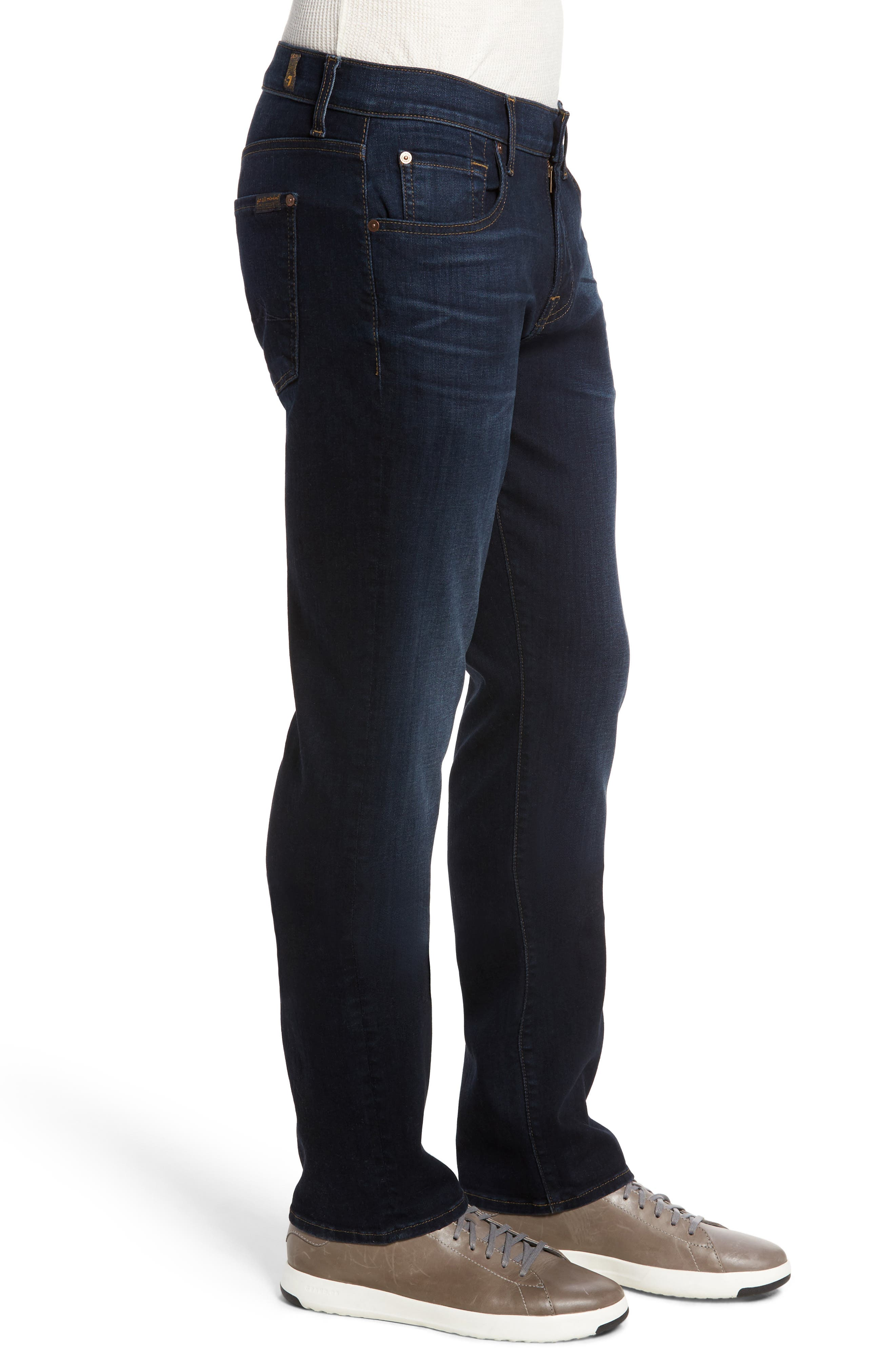 Standard Straight Fit Jeans,                             Alternate thumbnail 3, color,                             Albany