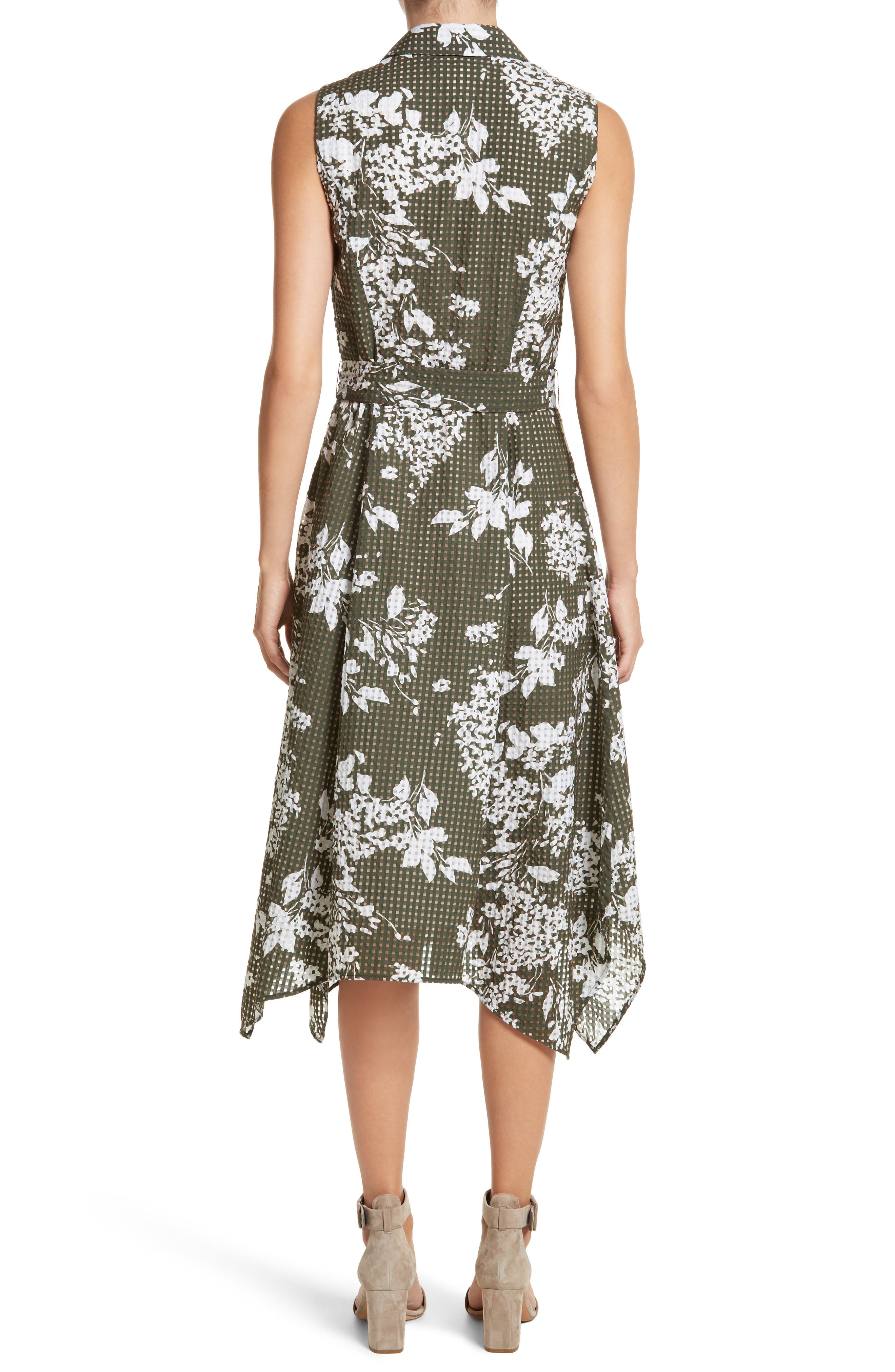 Alternate Image 2  - Lafayette 148 New York Moxie Sleeveless Shirtdress