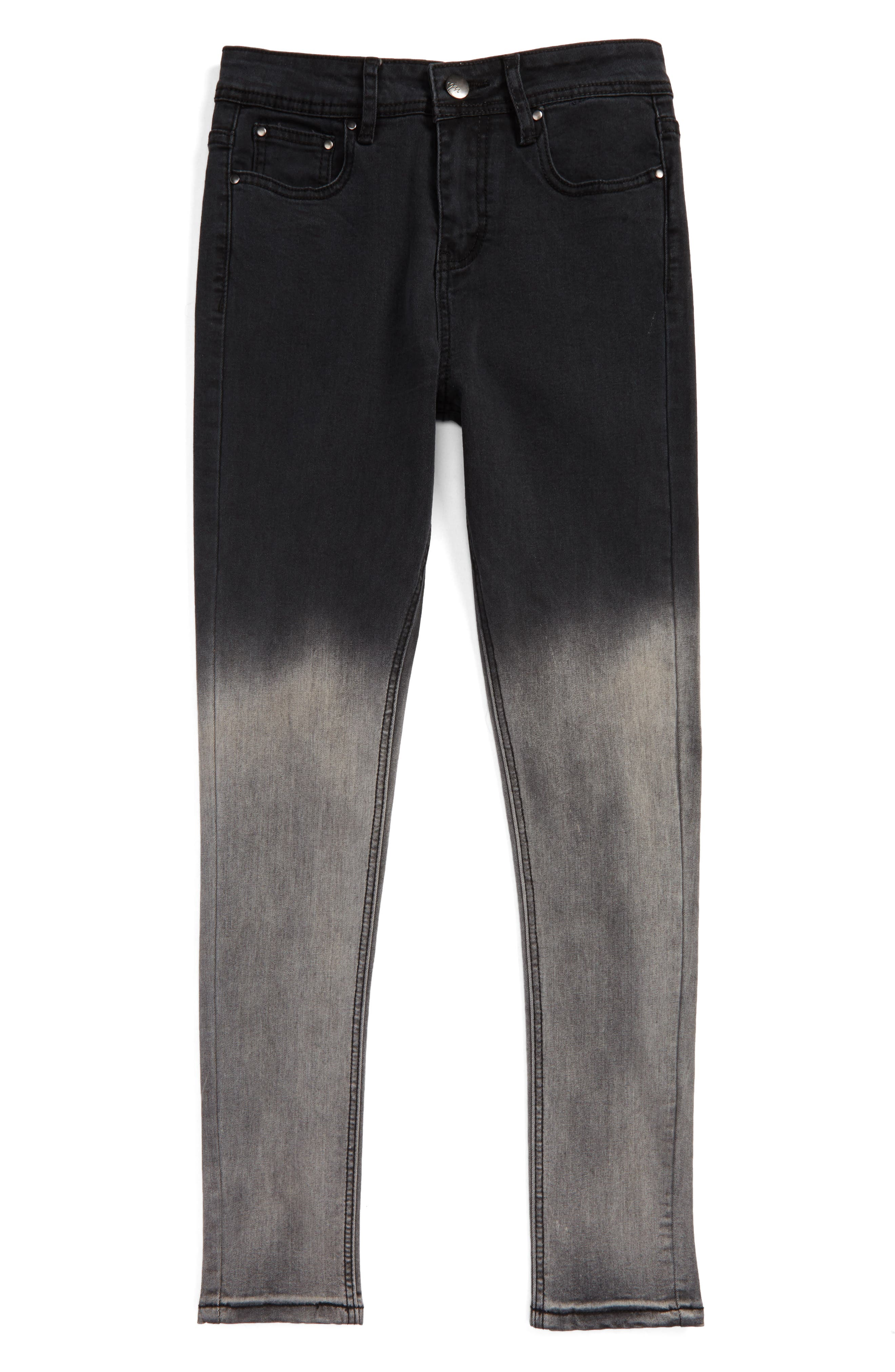 Ombré Skinny Jeans,                         Main,                         color, Black