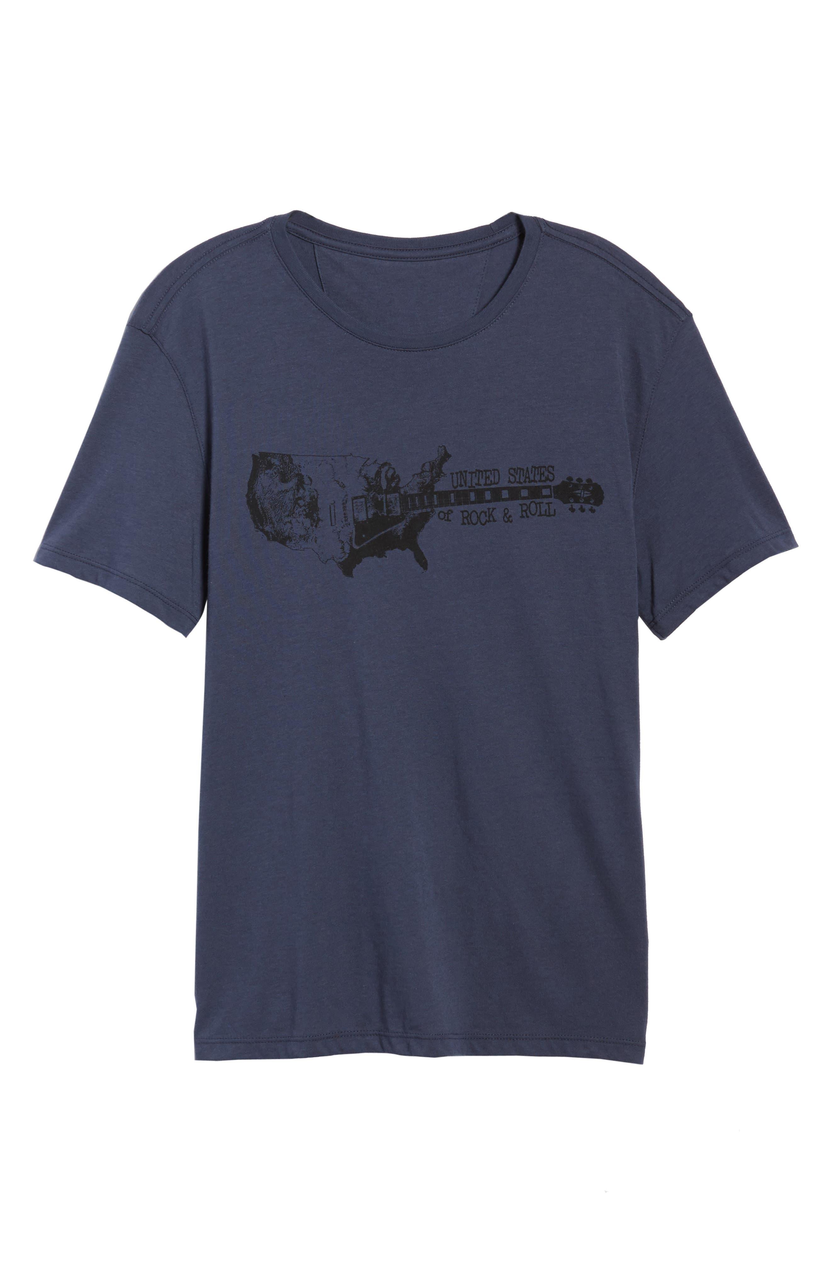 Guitar Stack Graphic T-Shirt,                             Alternate thumbnail 6, color,                             Twilight Blue