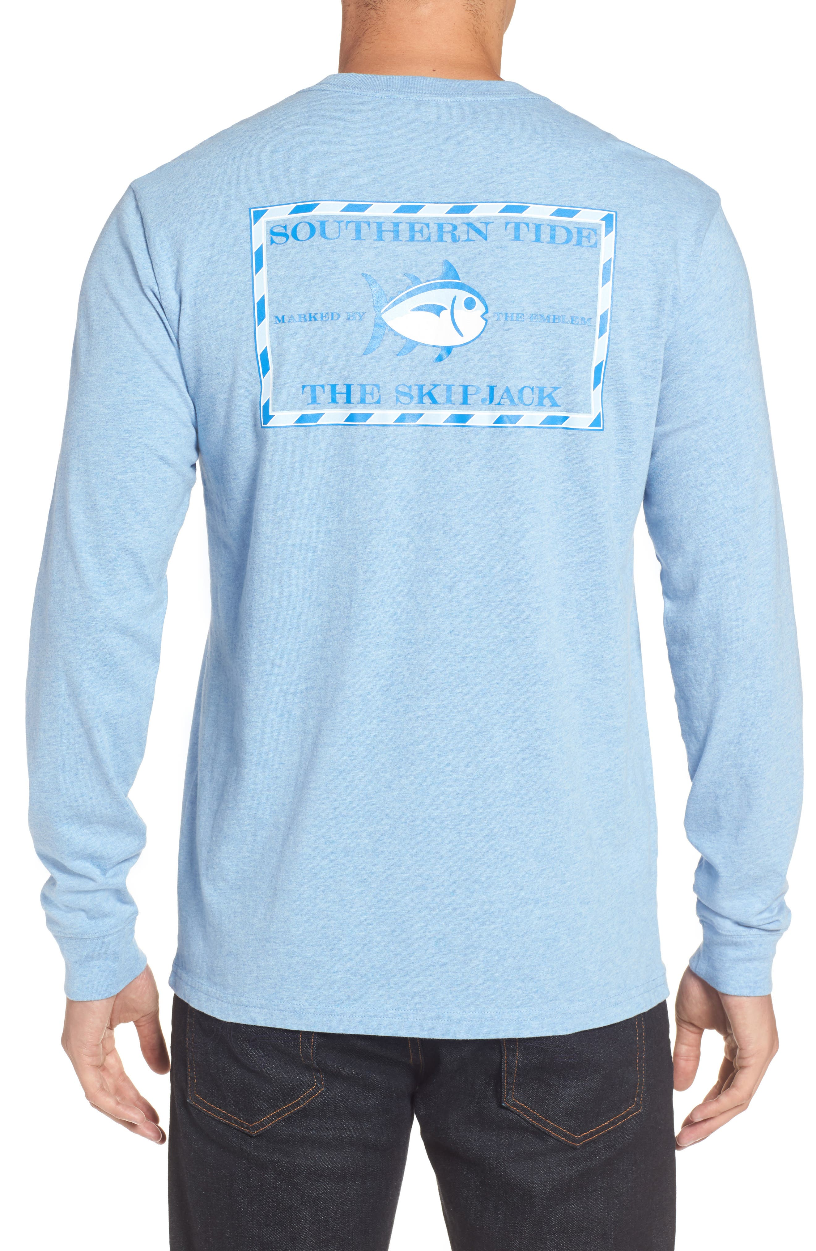 Original Skipjack T-Shirt,                         Main,                         color, Ocean Channel