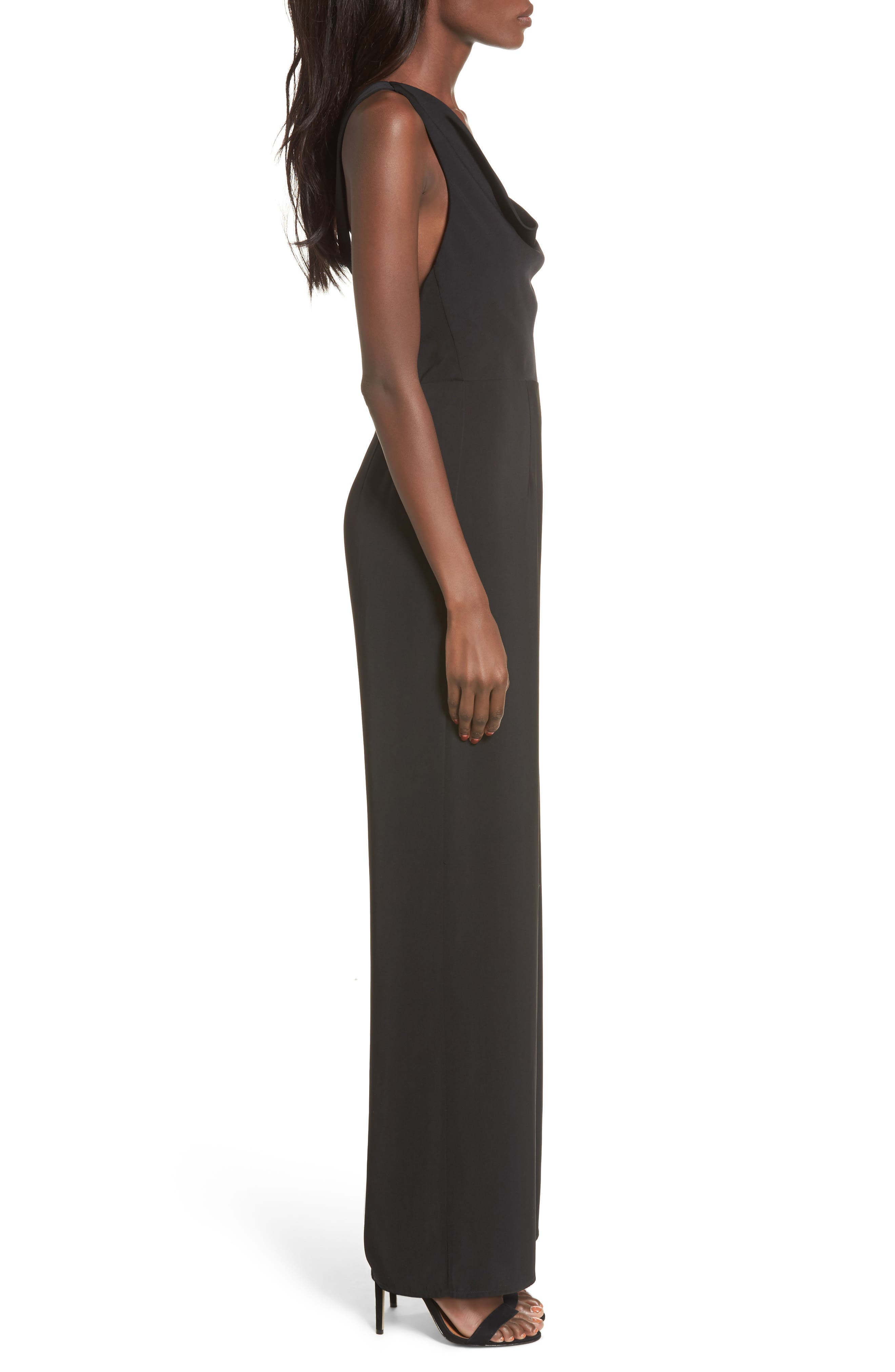 Be Mine Jumpsuit,                             Alternate thumbnail 3, color,                             Black
