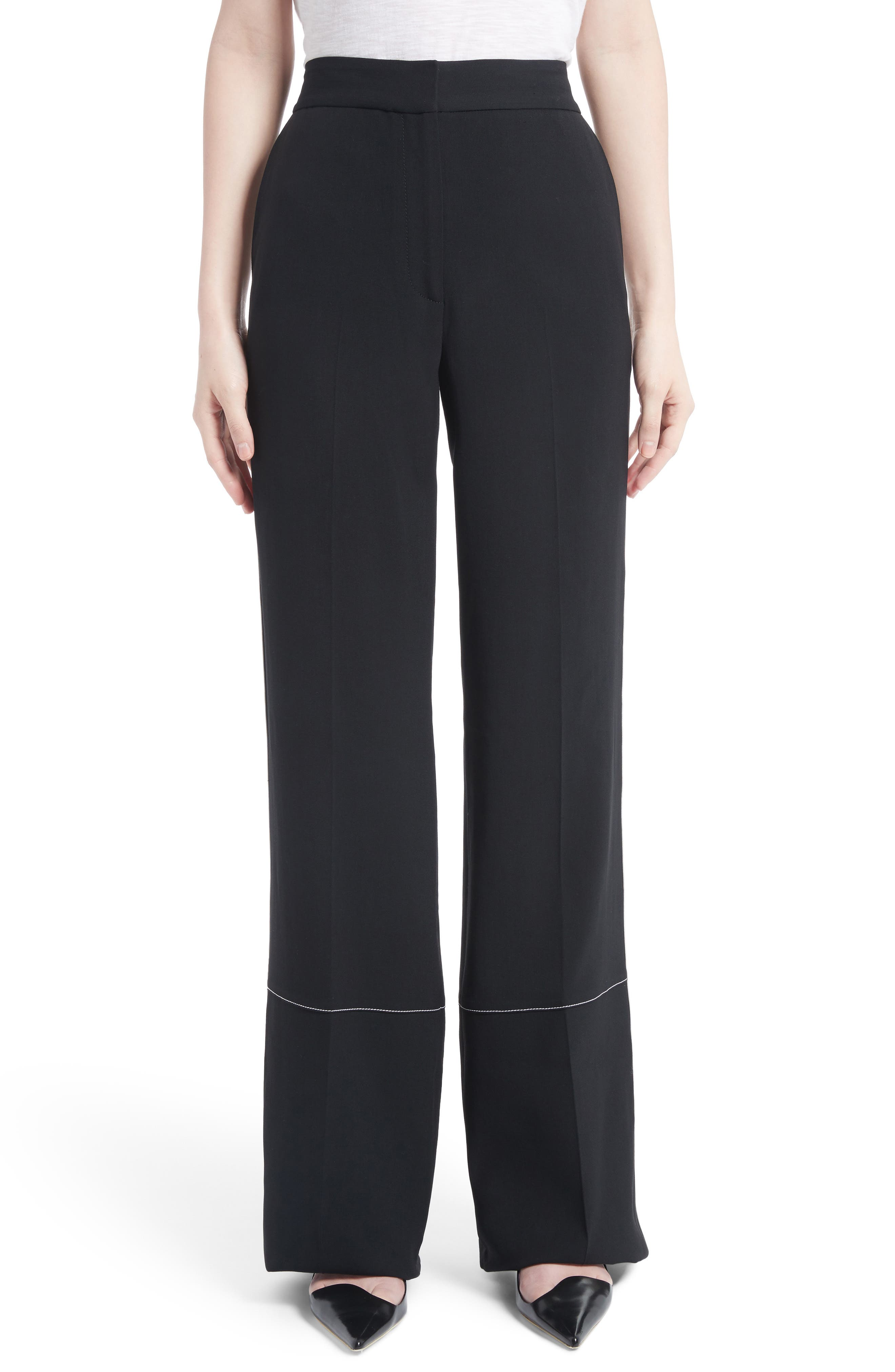 Main Image - Proenza Schouler Racing Stripe Wide Leg Pants