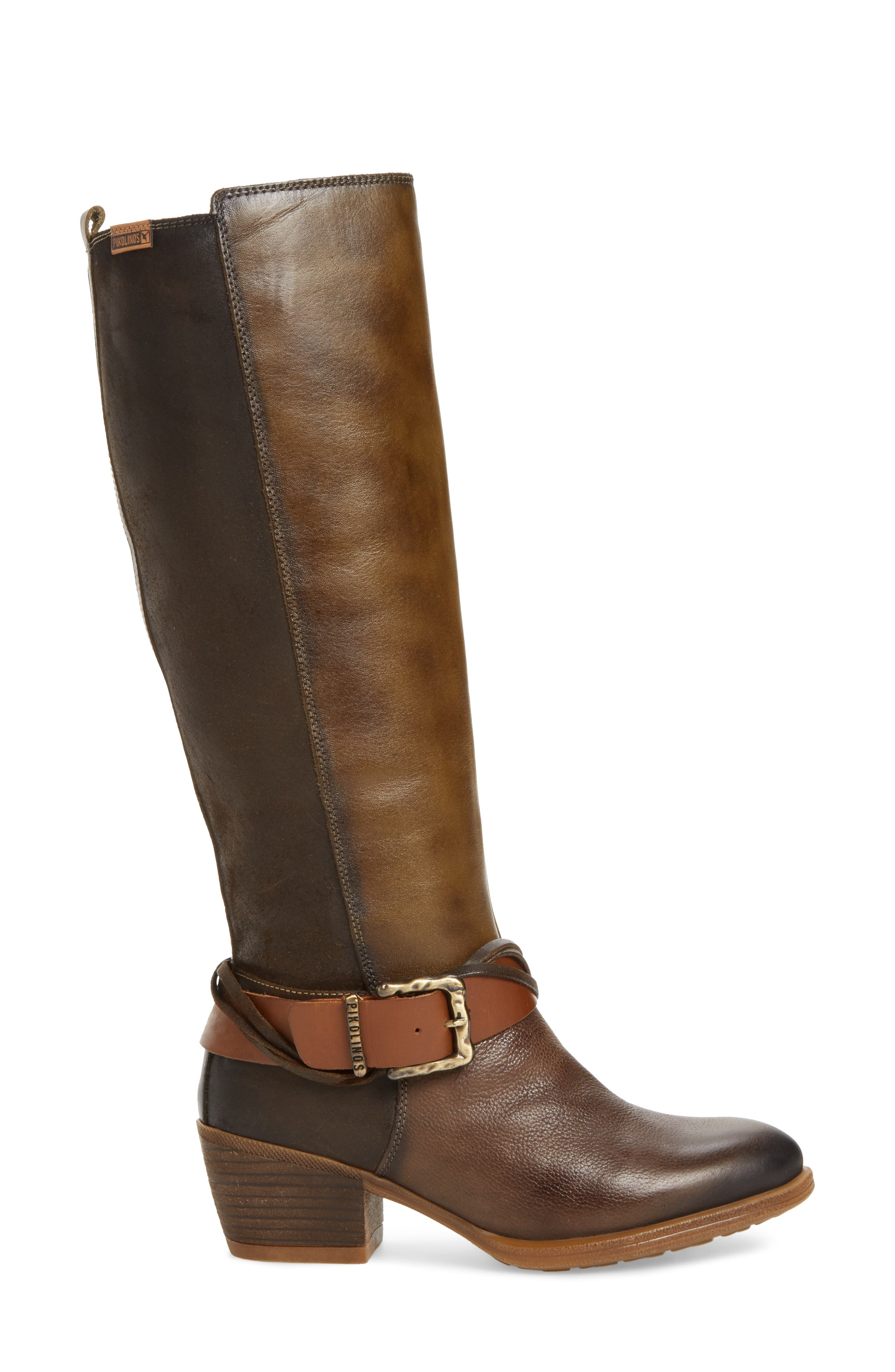 Baqueira Water Resistant Tall Boot,                             Alternate thumbnail 3, color,                             Seaweed Leather