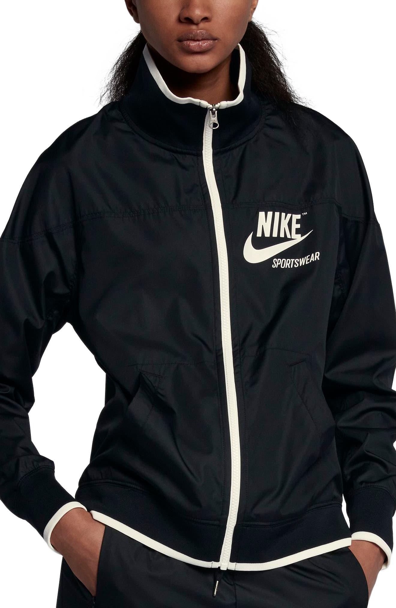Sportswear Archive Jacket,                             Main thumbnail 1, color,                             Black/ Sail