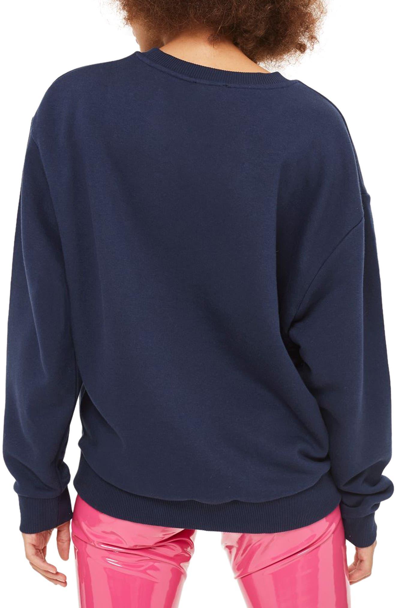 Alternate Image 3  - Topshop Sloppy Sweatshirt
