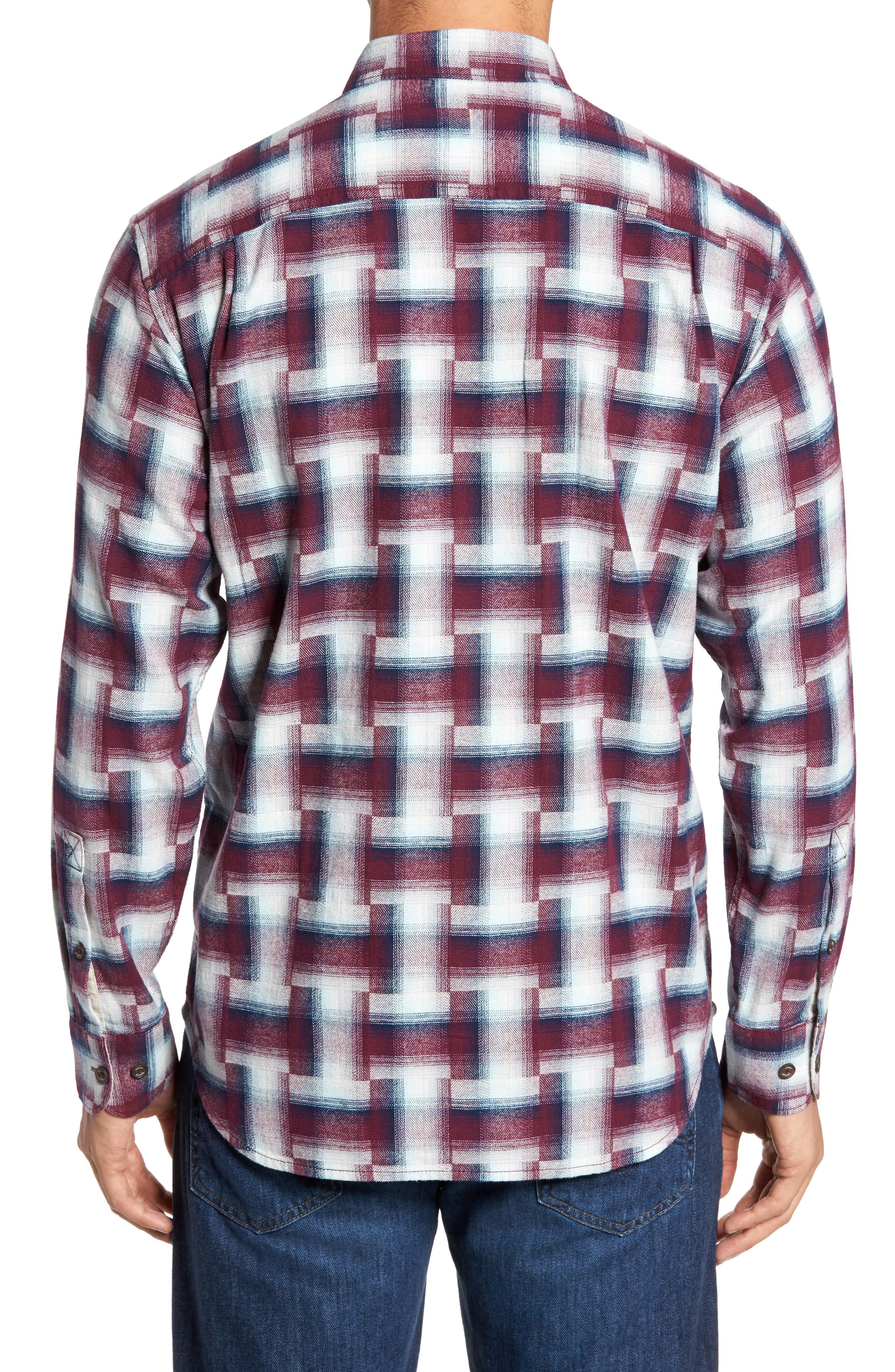 Boogie Print Sport Shirt,                             Alternate thumbnail 2, color,                             Ruby Wine