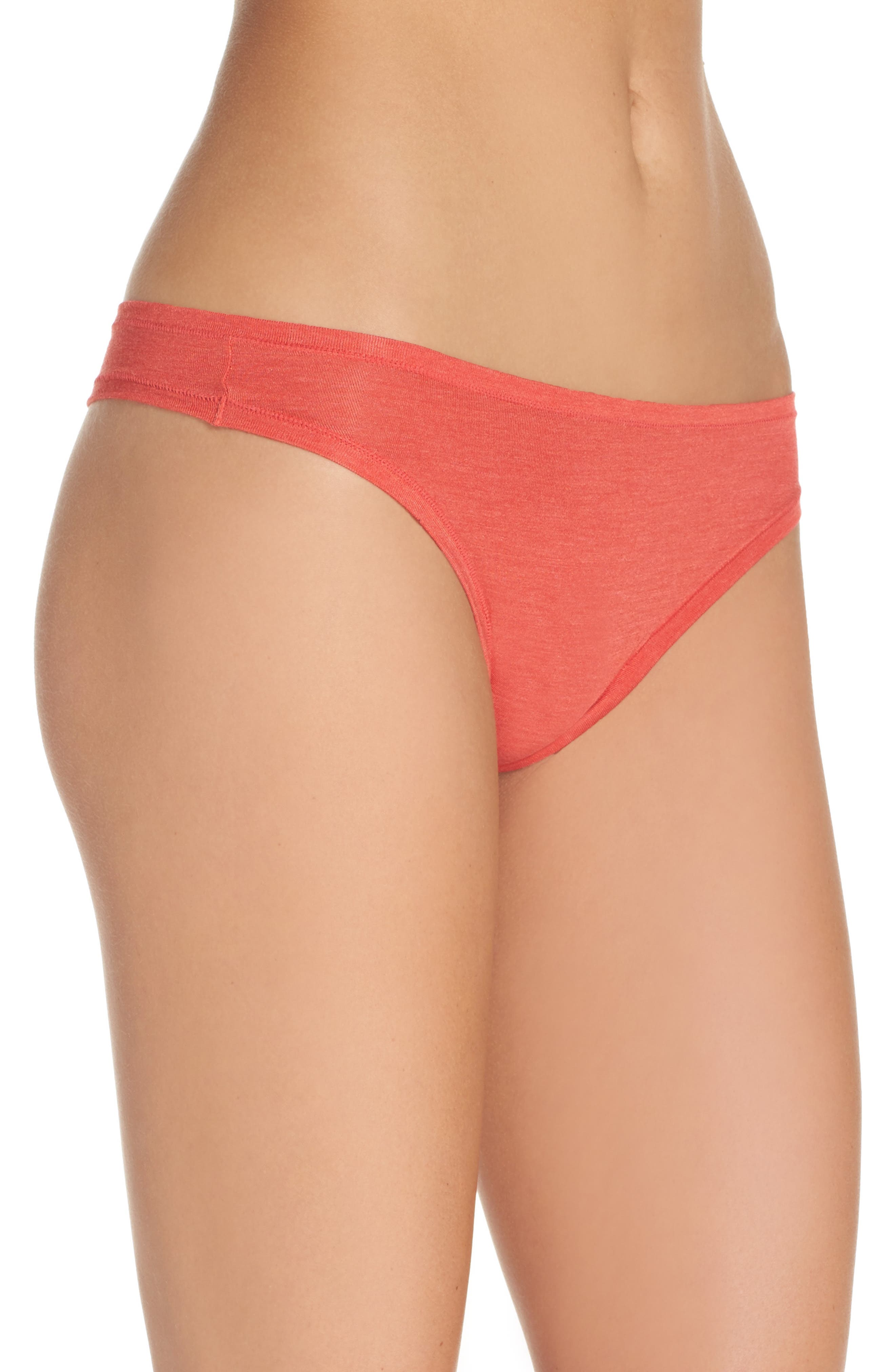 Bliss Essence Thong,                             Alternate thumbnail 2, color,                             Cherry Red