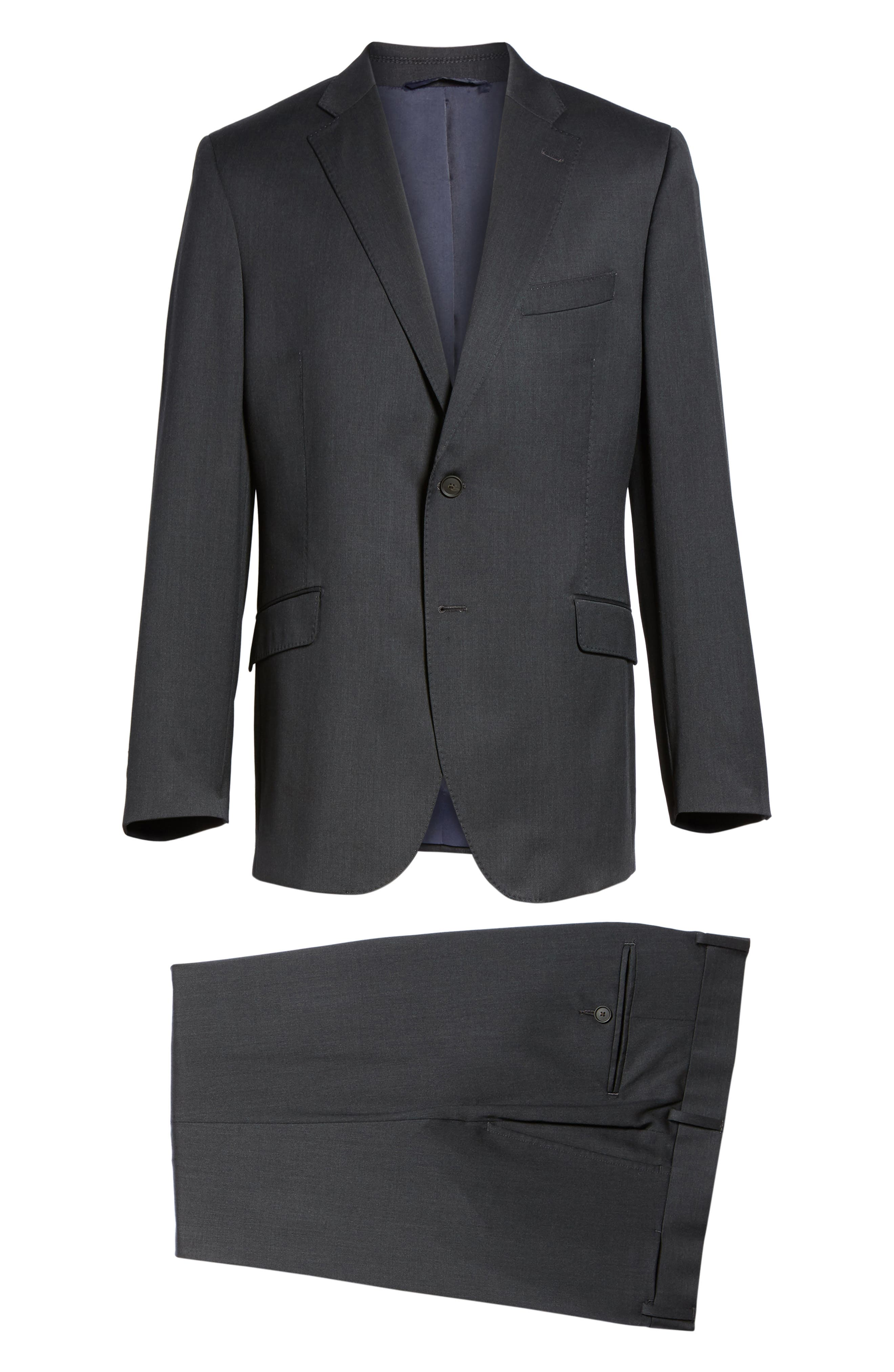 Keidis Aim Classic Fit Stretch Wool Suit,                             Alternate thumbnail 8, color,                             Charcoal