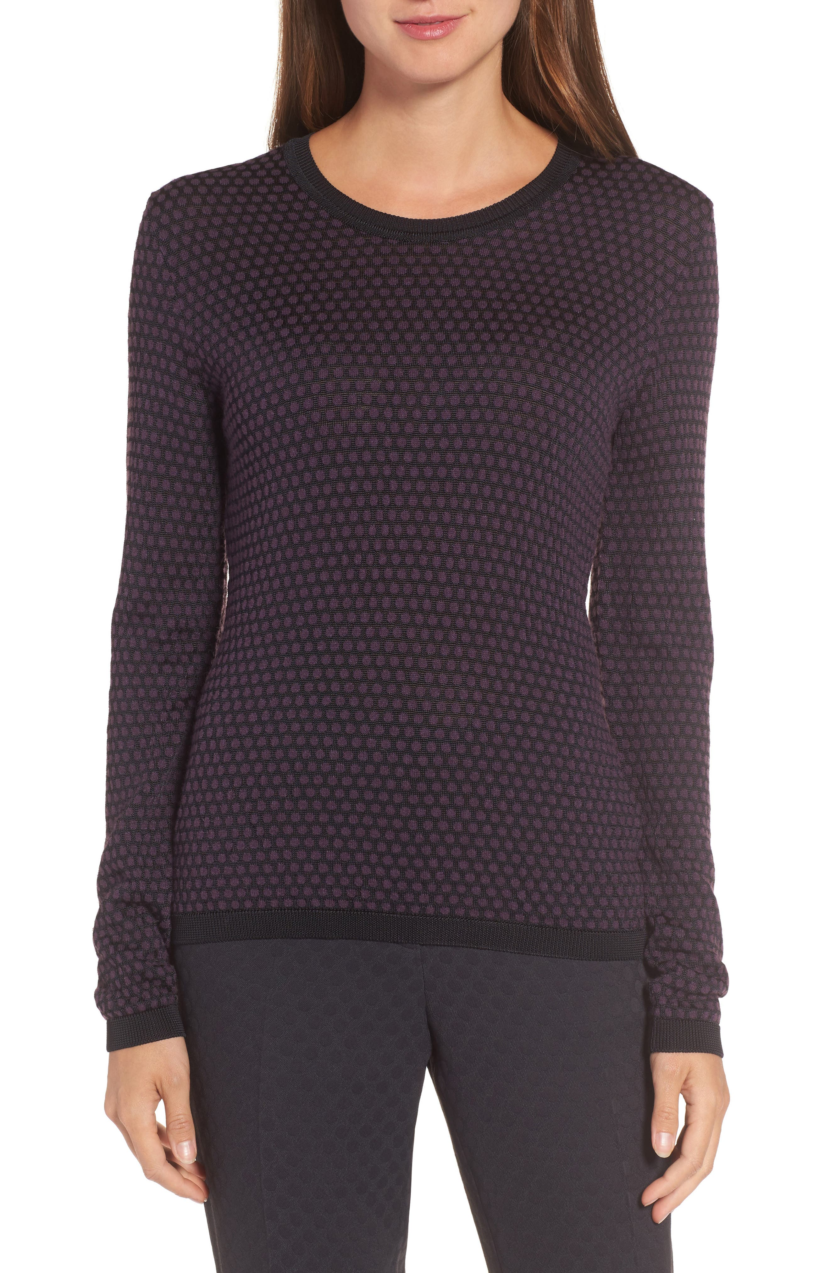 Main Image - BOSS Dot Fielitza Jacquard Sweater (Nordstrom Exclusive)