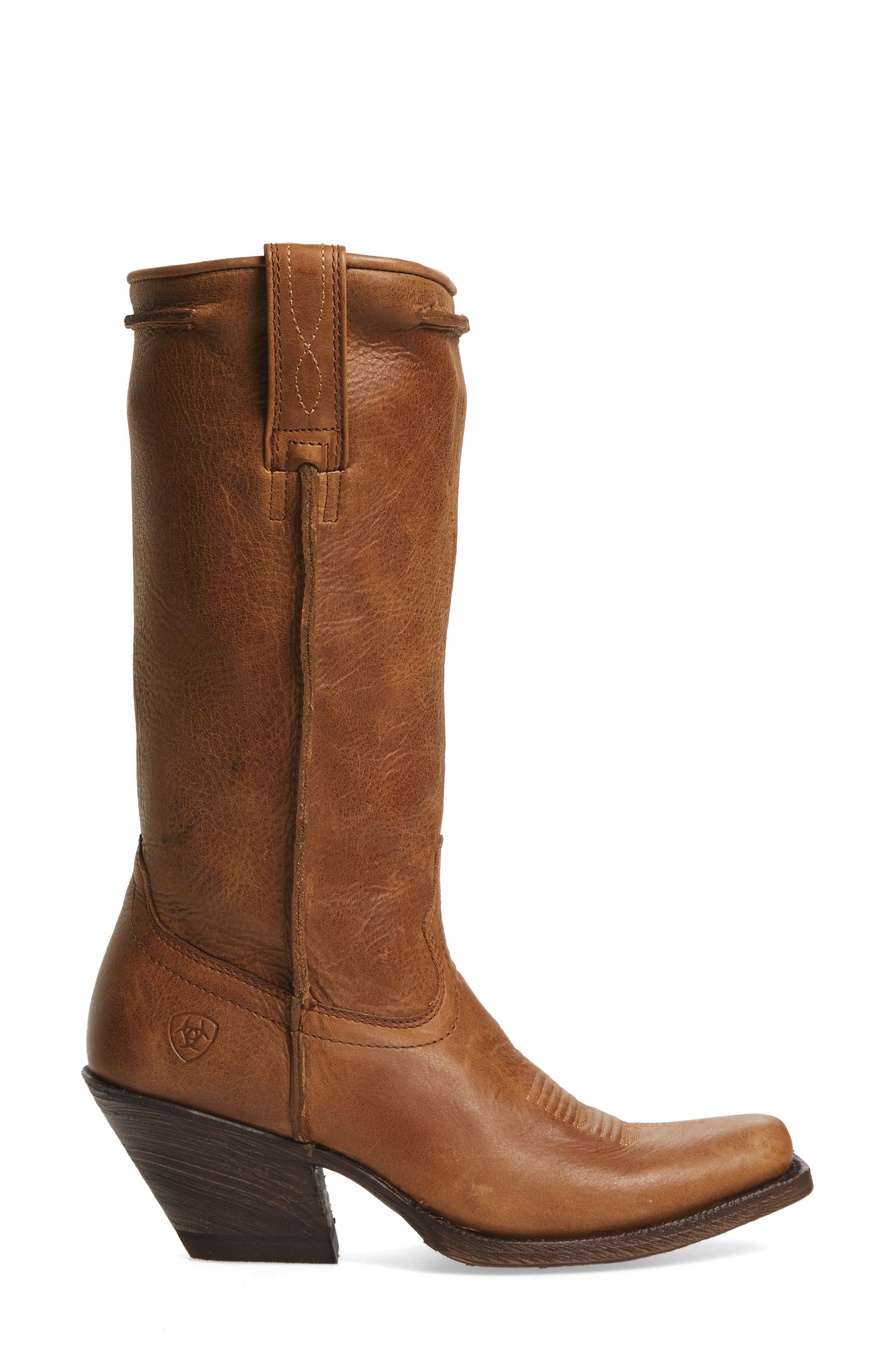 Rowan Stovepipe Western Boot,                             Alternate thumbnail 3, color,                             Southern Tan Leather