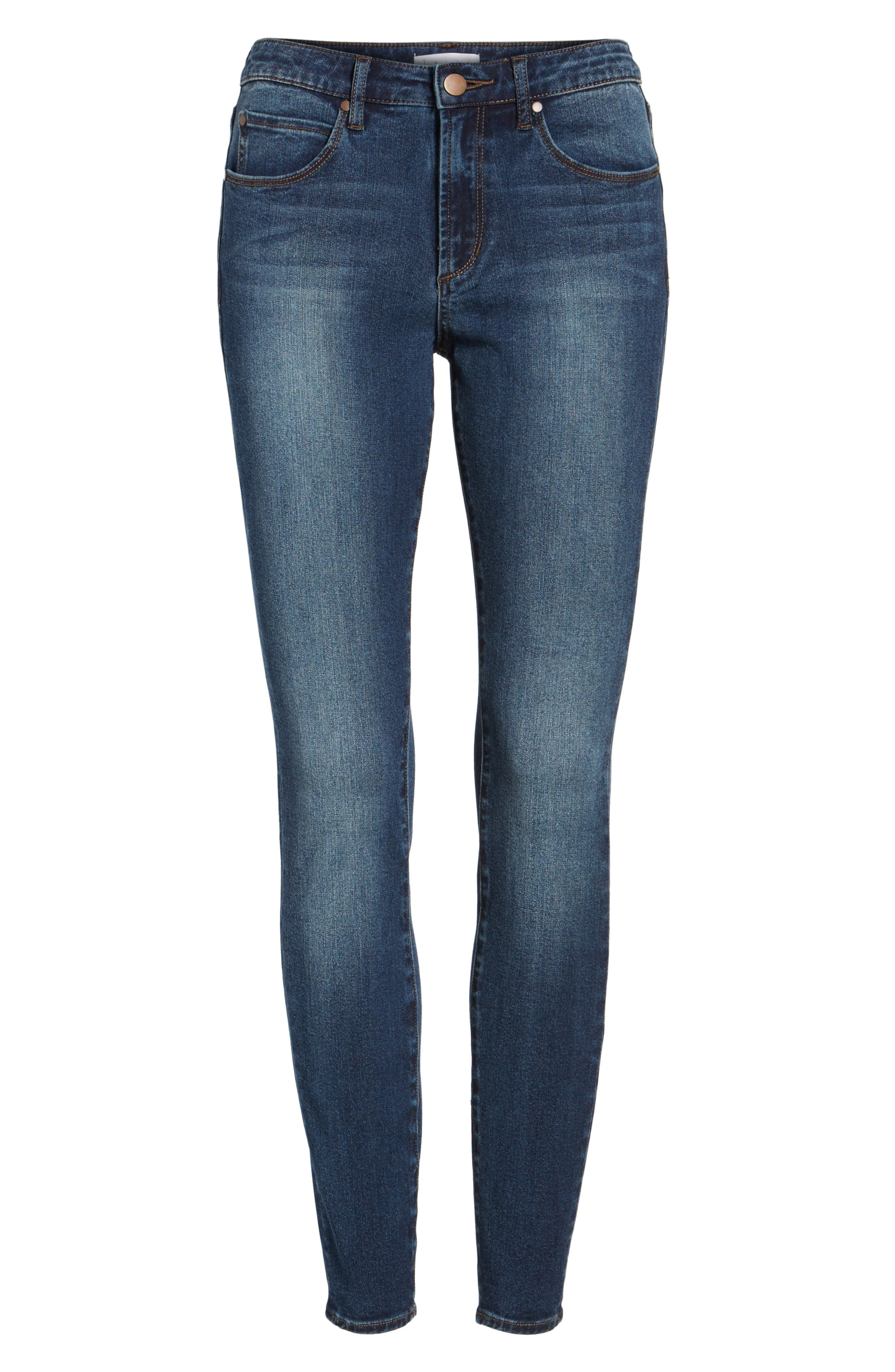 Alternate Image 6  - Leith High Waist Skinny Jeans