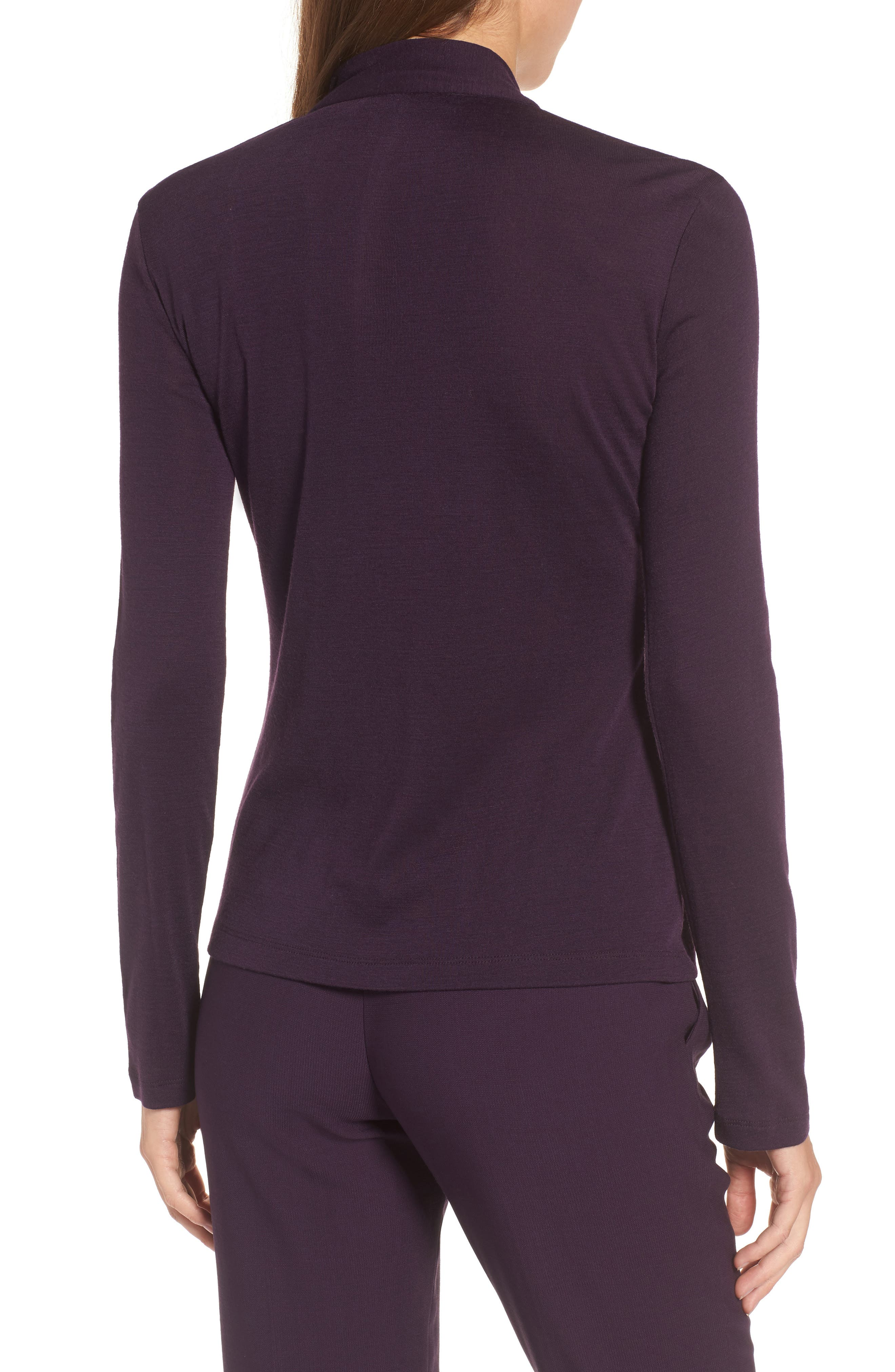 Alternate Image 2  - BOSS Epina Keyhole Jersey Top (Nordstrom Exclusive)