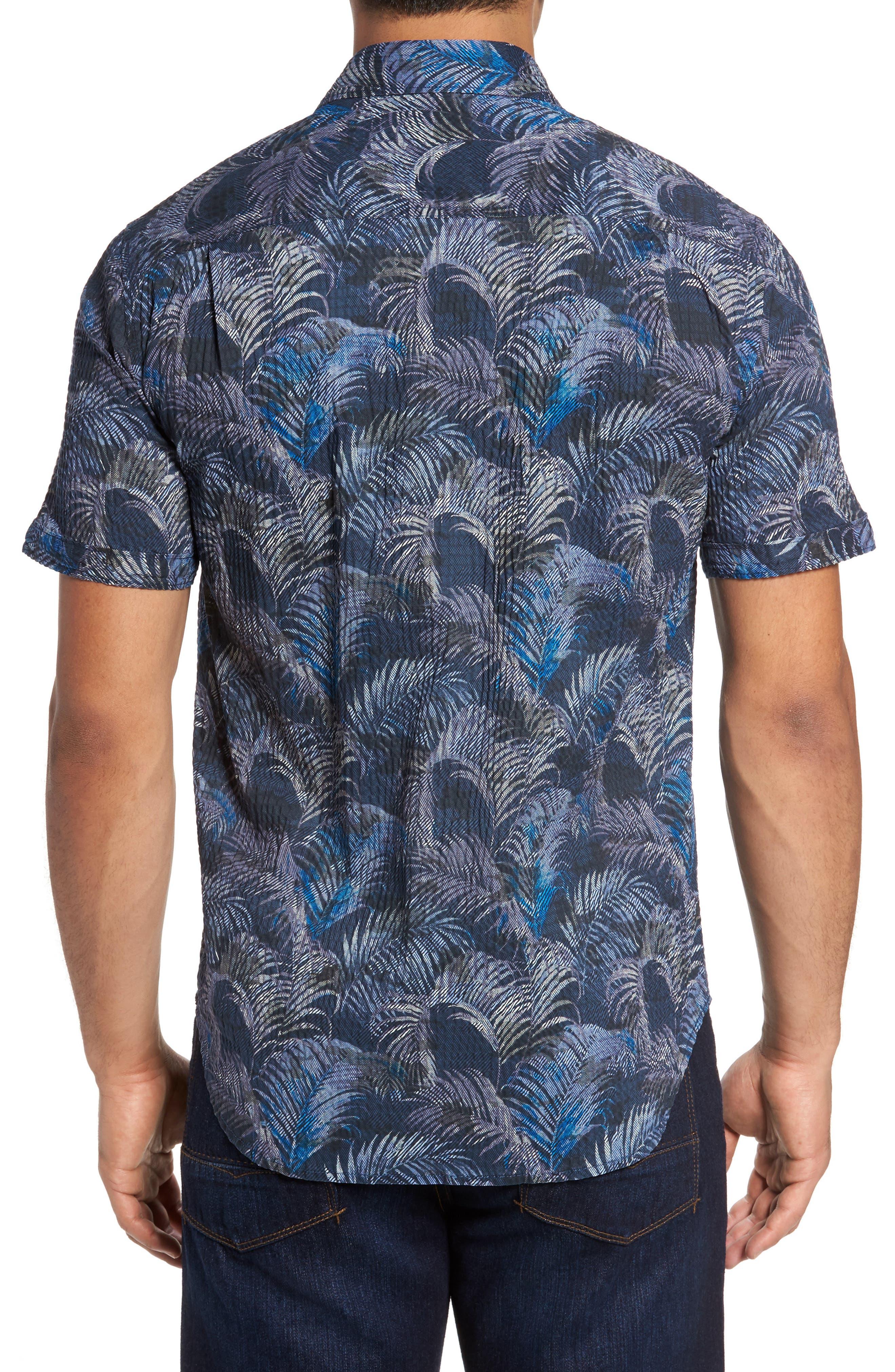Fez Fronds Regular Fit Sport Shirt Shirt,                             Alternate thumbnail 2, color,                             Maritime