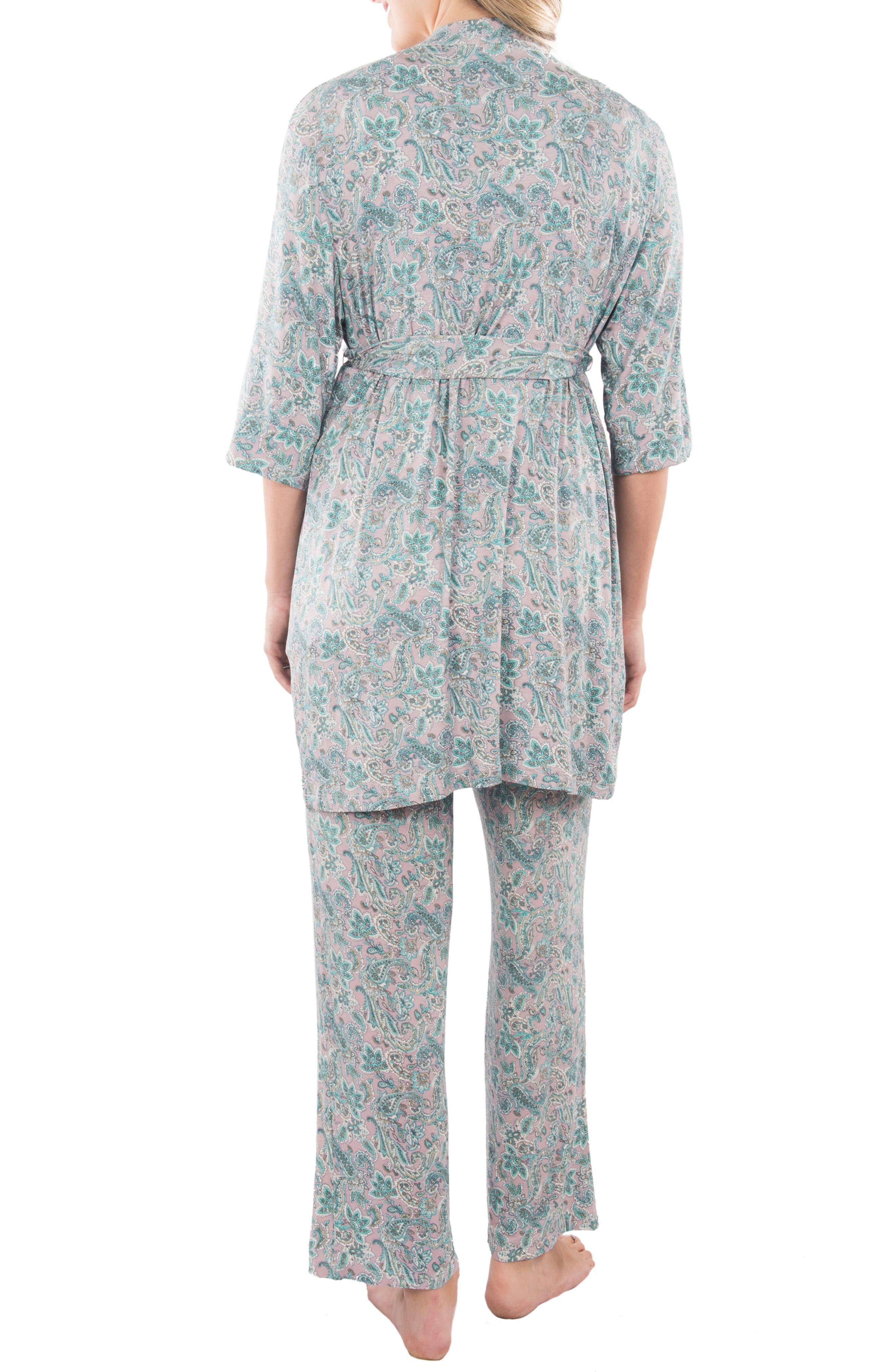 Alternate Image 2  - Everly Grey Susan 5-Piece Maternity/Nursing Pajama Set