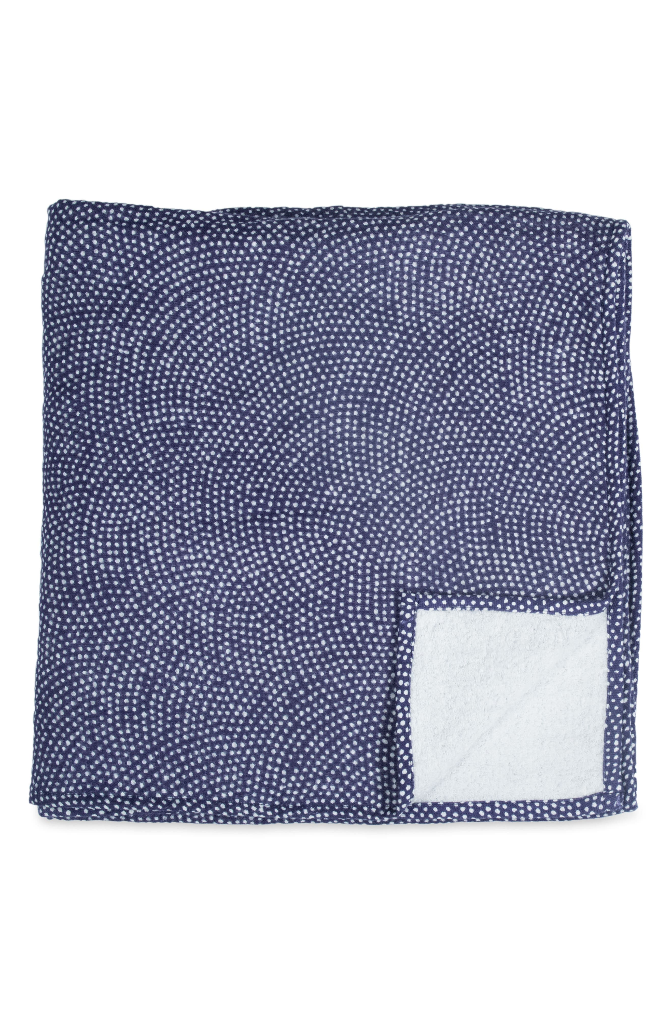 Zero Twist Print Bath Towel,                         Main,                         color, Dark Blue