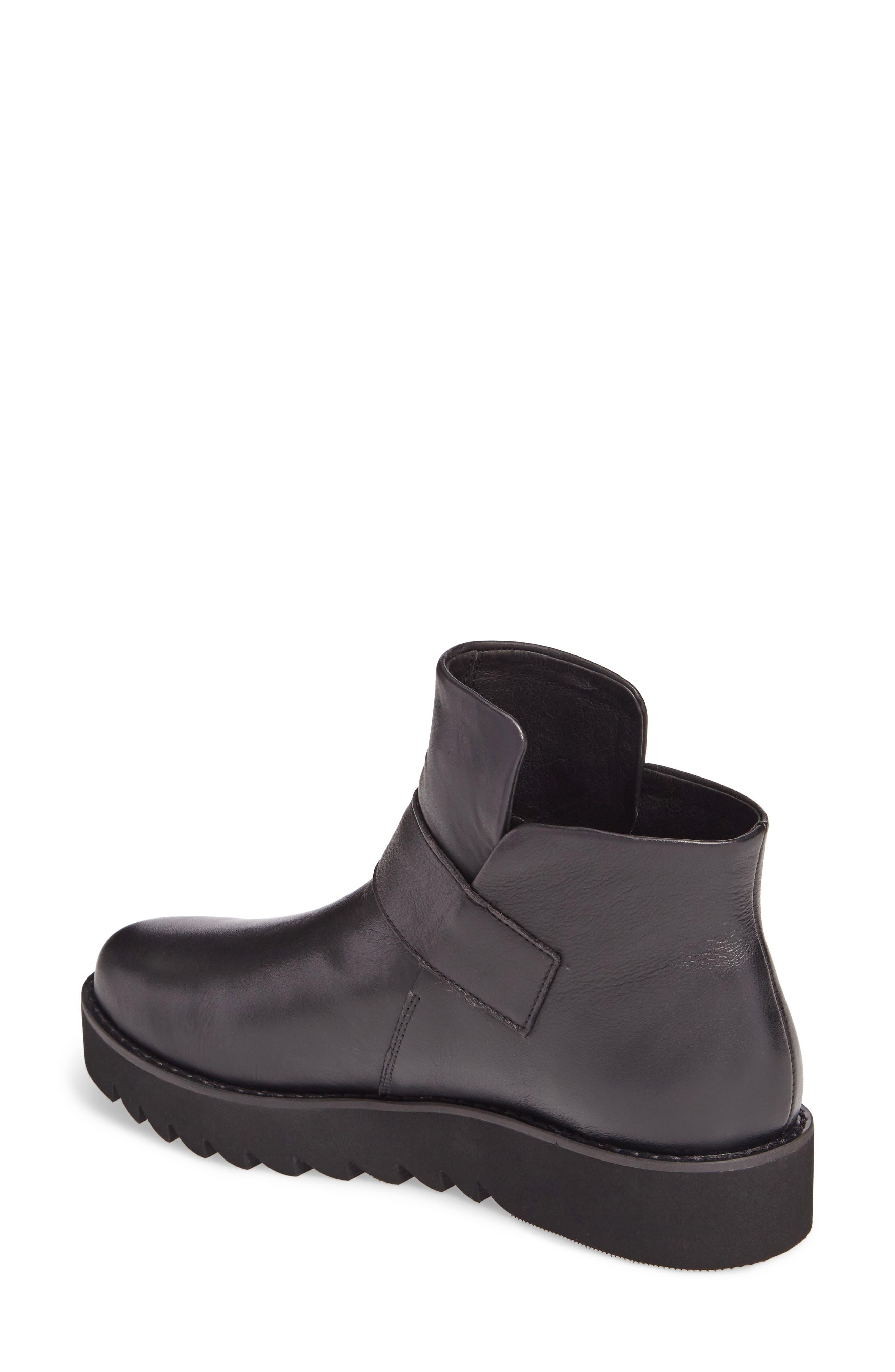 Kris Boot,                             Alternate thumbnail 2, color,                             Black Leather
