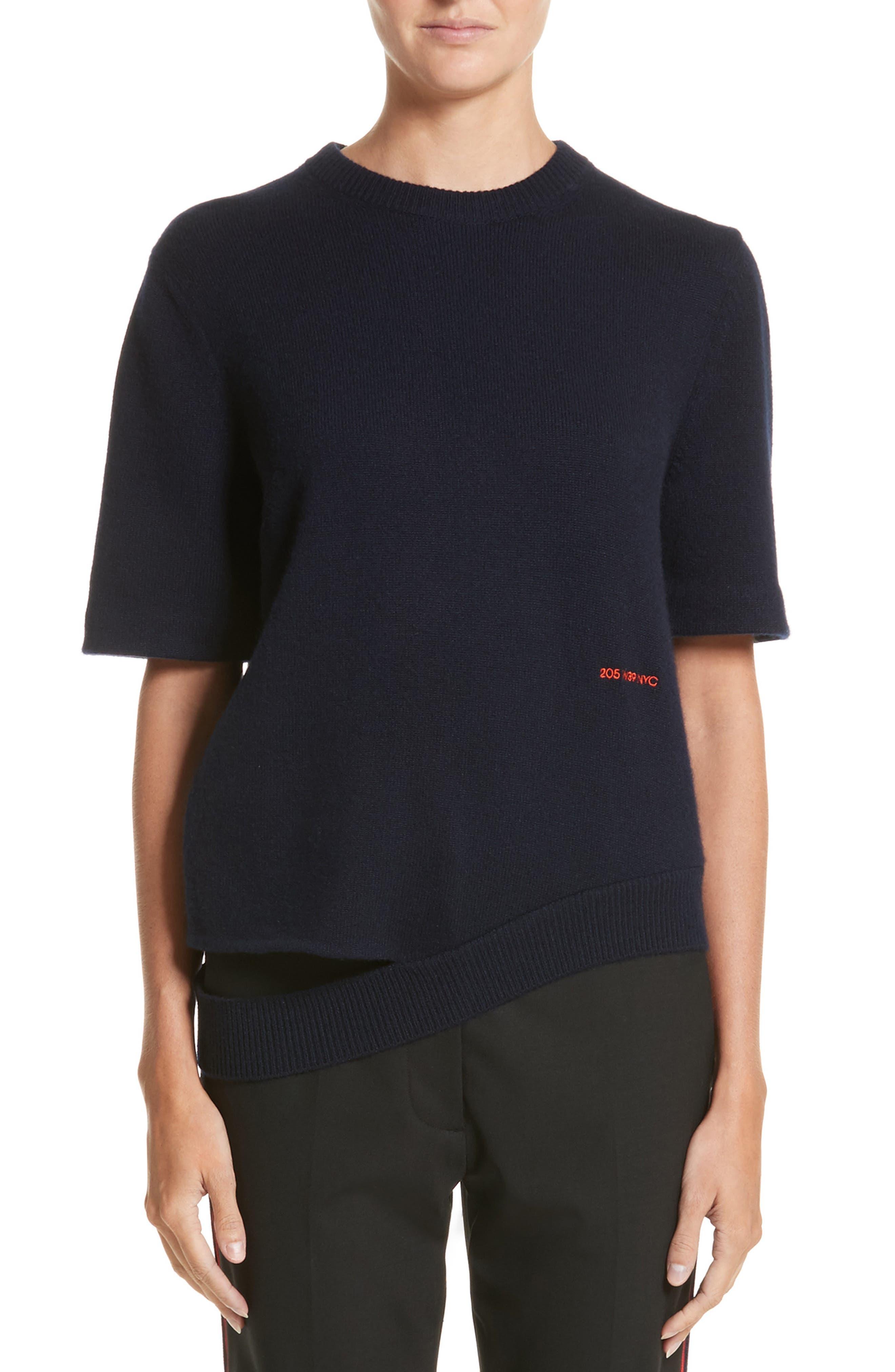 Main Image - CALVIN KLEIN 205W39NYC Logo Cashmere Sweater