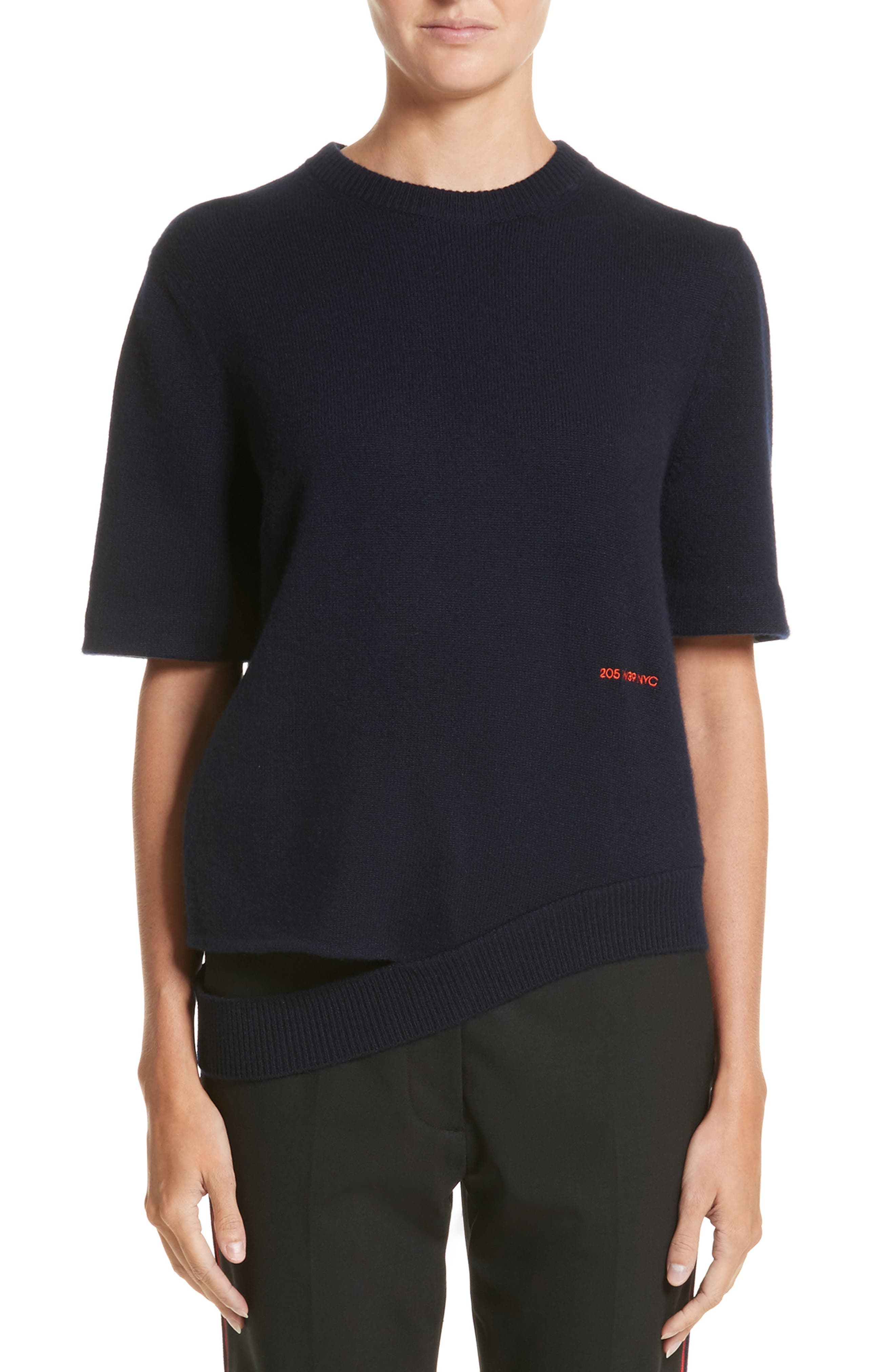 Logo Cashmere Sweater,                         Main,                         color, Navy