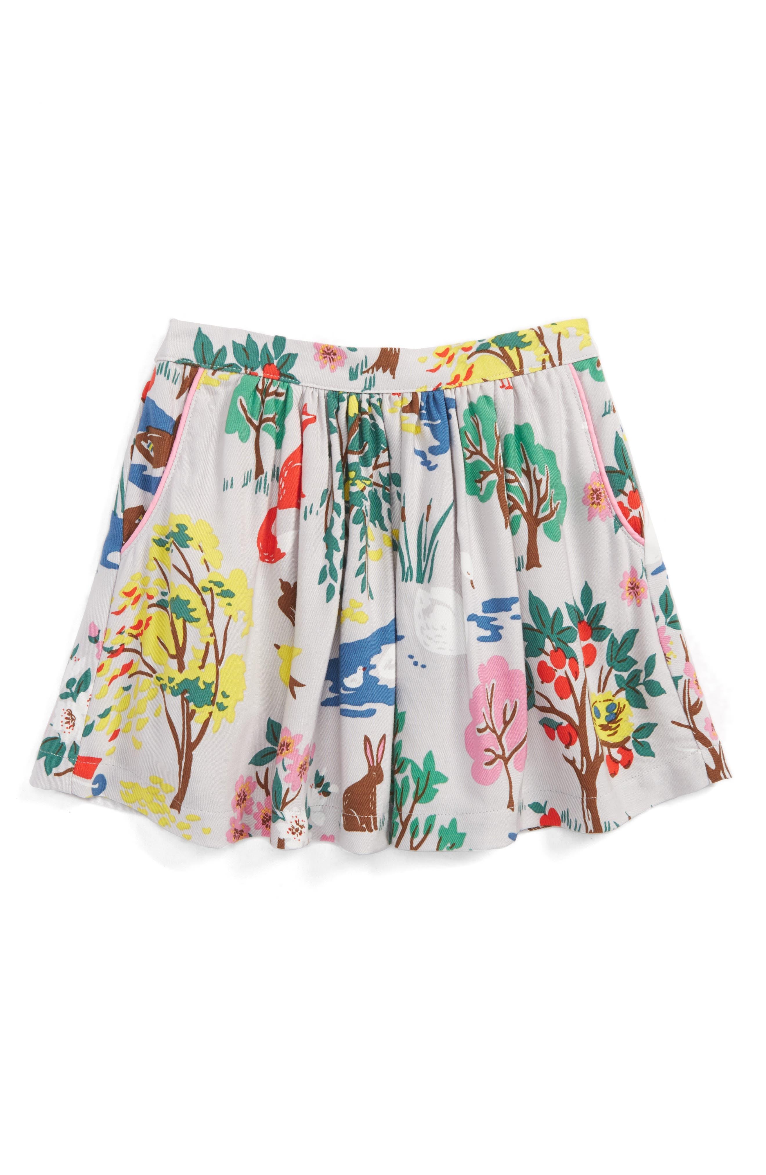 Print Twirly Skirt,                         Main,                         color, Grey Autumn