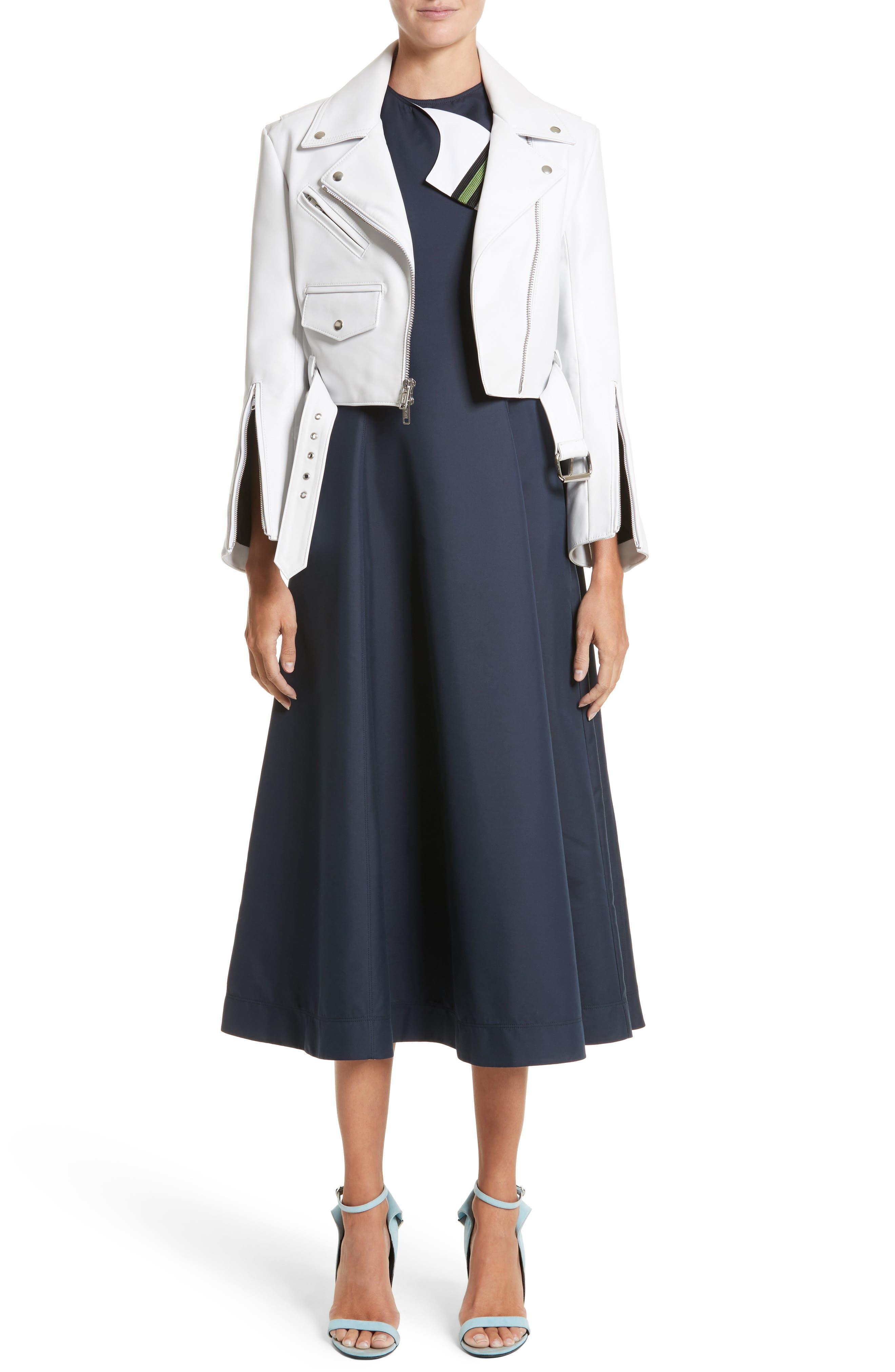Alternate Image 6  - Calvin Klein 205W39NYC Cotton & Silk Dress