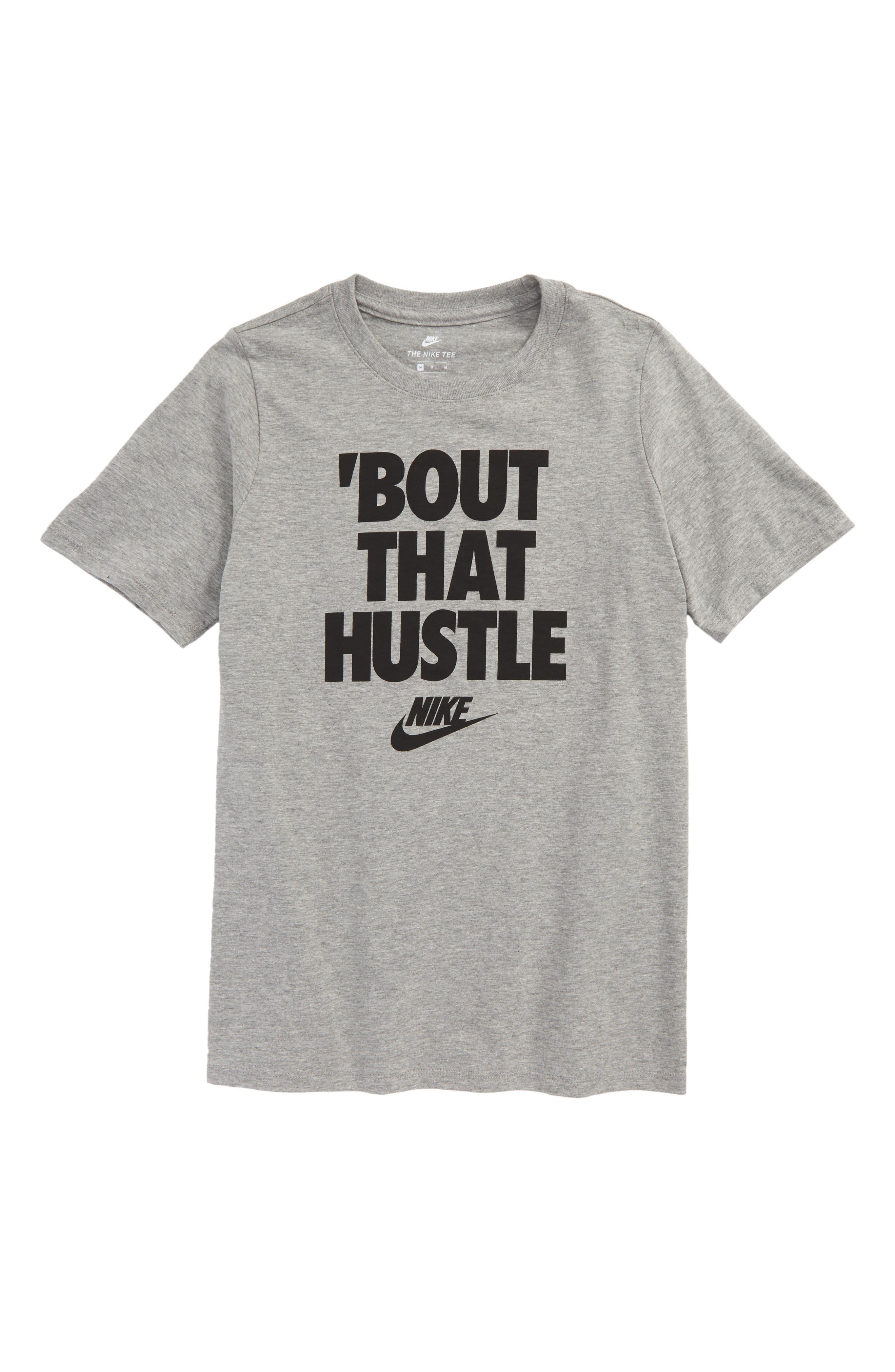 Hustle Graphic T-Shirt,                             Main thumbnail 1, color,                             D Gr H