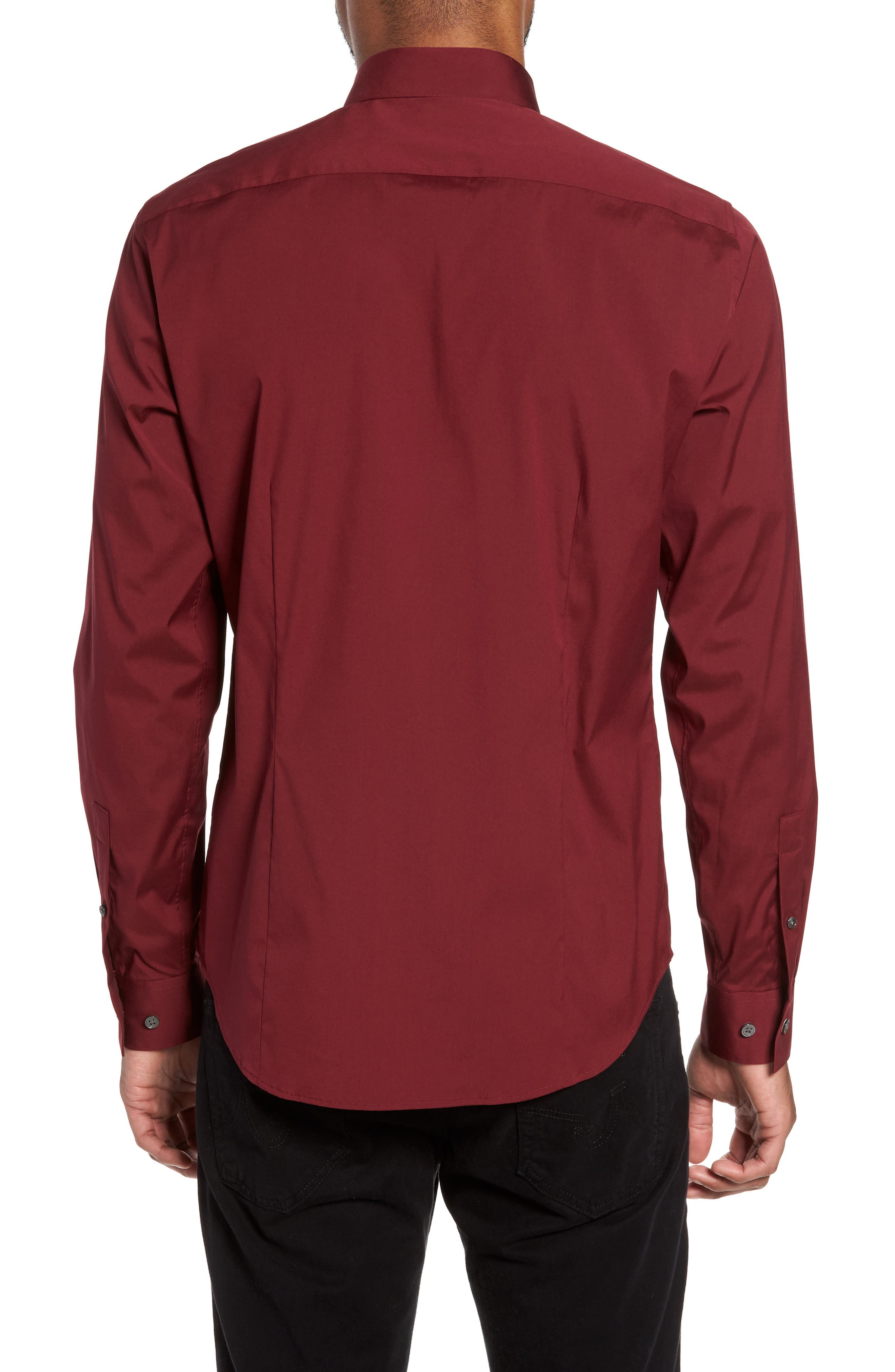 Alternate Image 2  - Theory 'Sylvain' Trim Fit Long Sleeve Sport Shirt