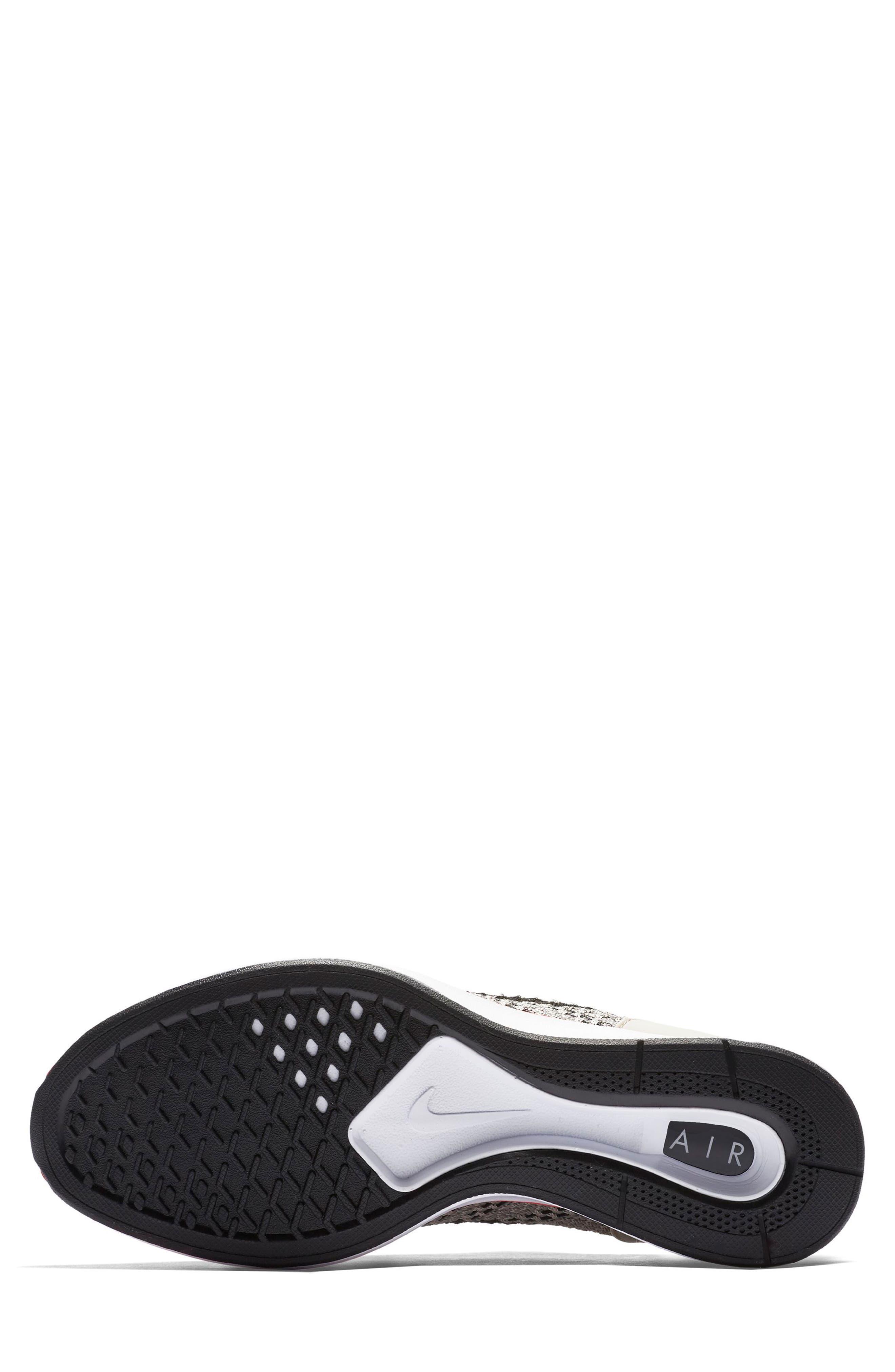 Air Zoom Mariah Flyknit Racer Sneaker,                             Alternate thumbnail 5, color,                             String/ Black/ White