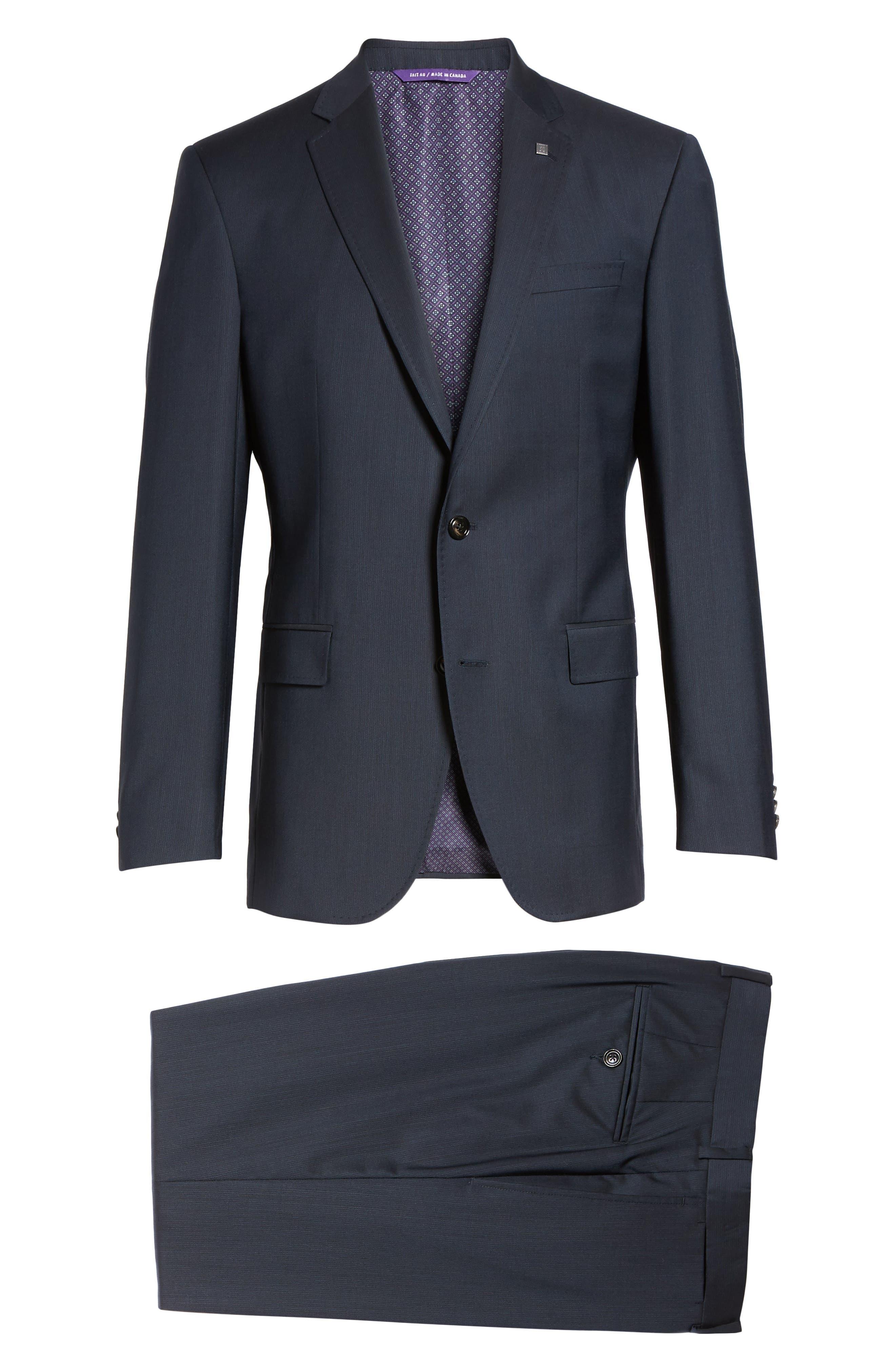 Alternate Image 8  - Ted Baker London Trim Fit Solid Wool Suit