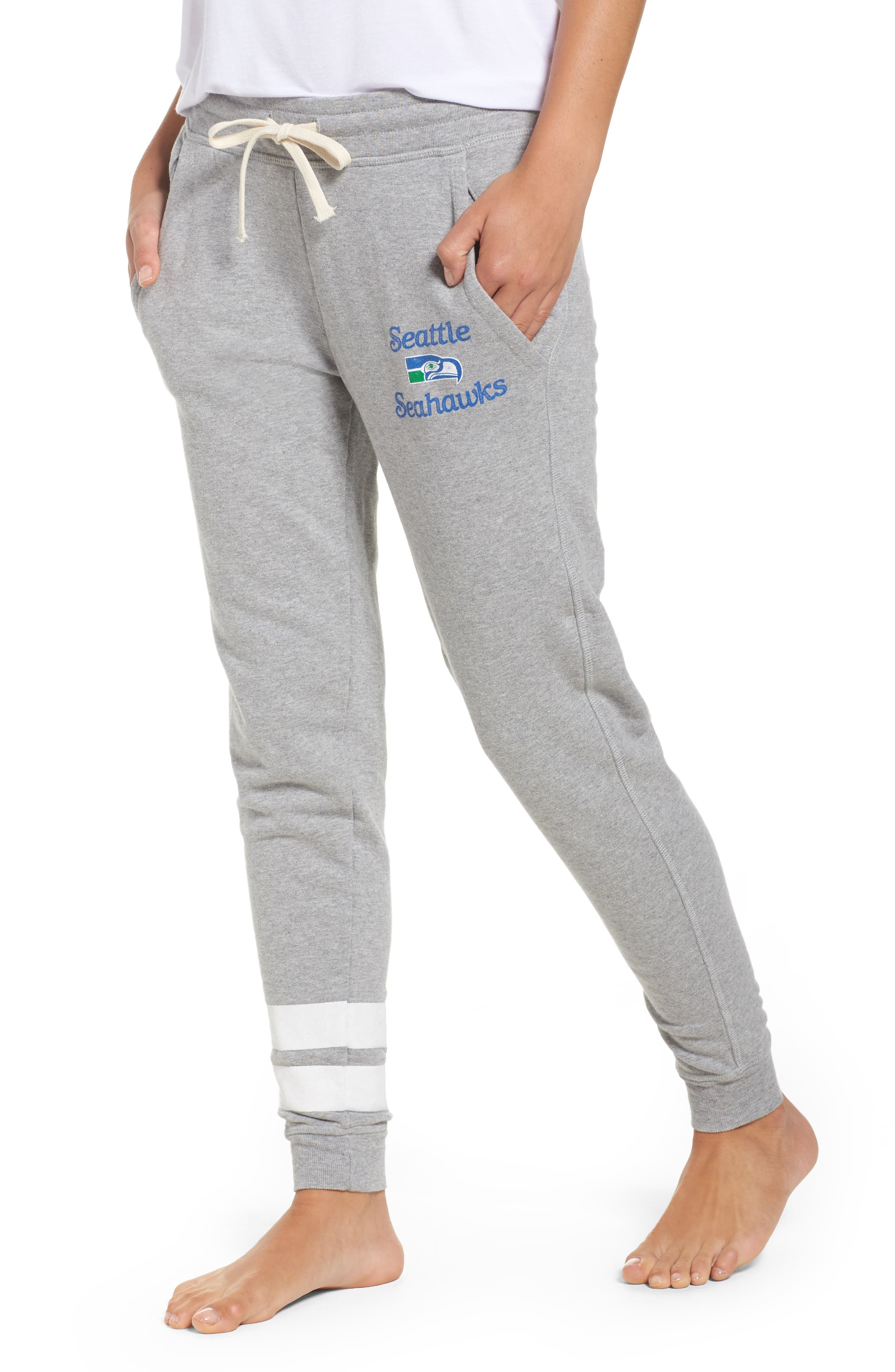NFL Seattle Seahawks Sunday Sweatpants,                         Main,                         color, Heather Grey