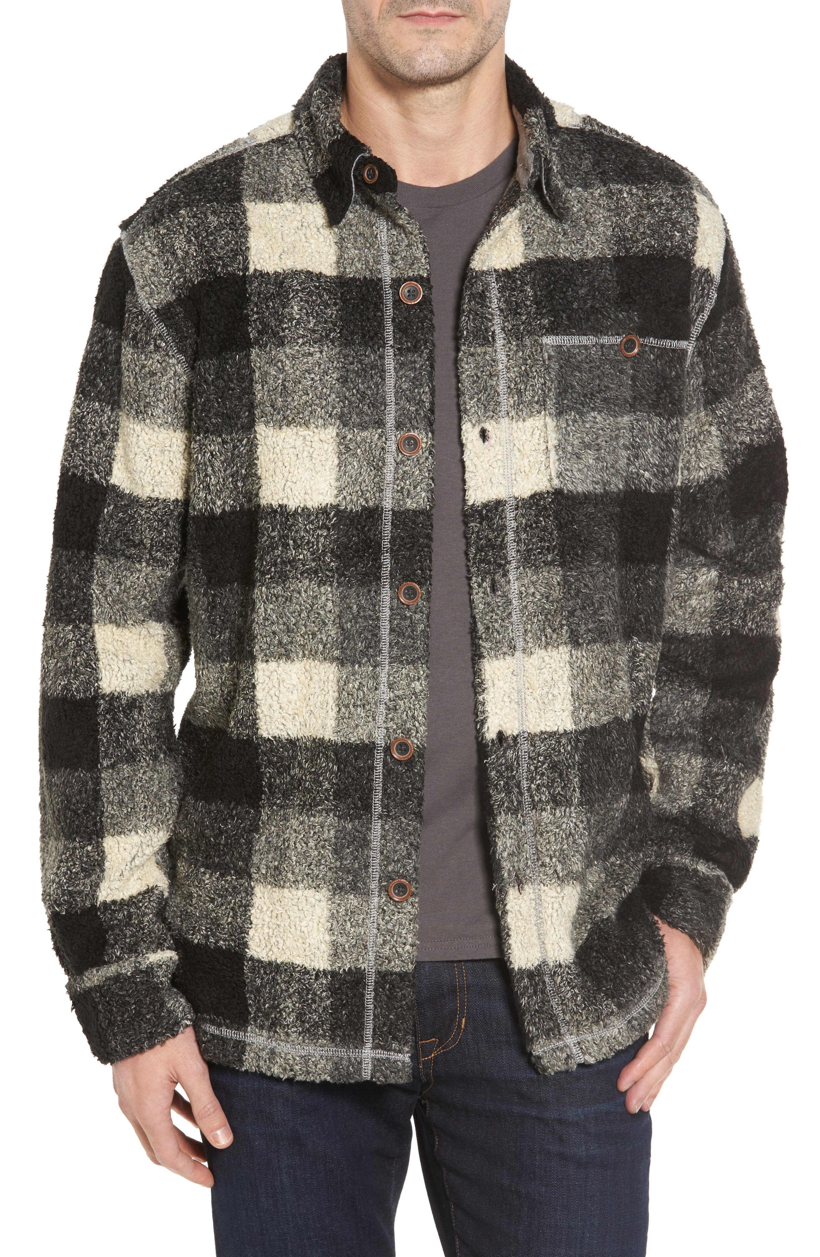 True Grit Textured Buffalo Check Shirt Jacket