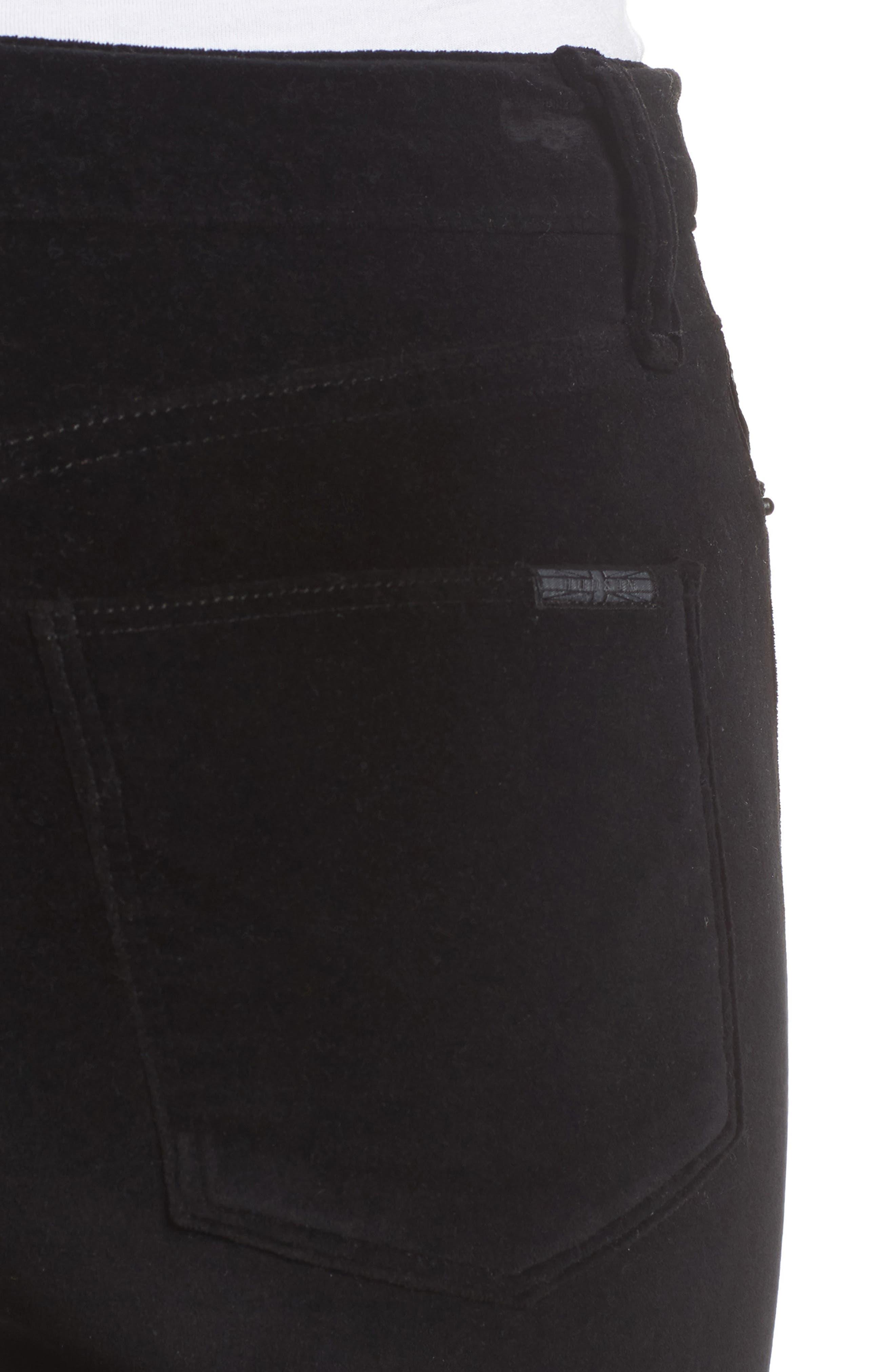 Alternate Image 4  - Hudson Jeans Brix Velvet High Waist Crop Bootcut Pants